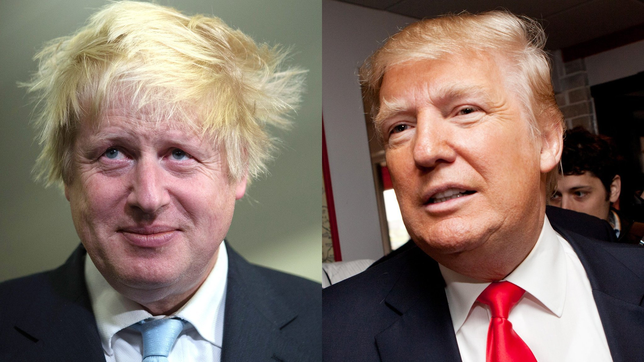 Resultat d'imatges de Boris Johnson Trump