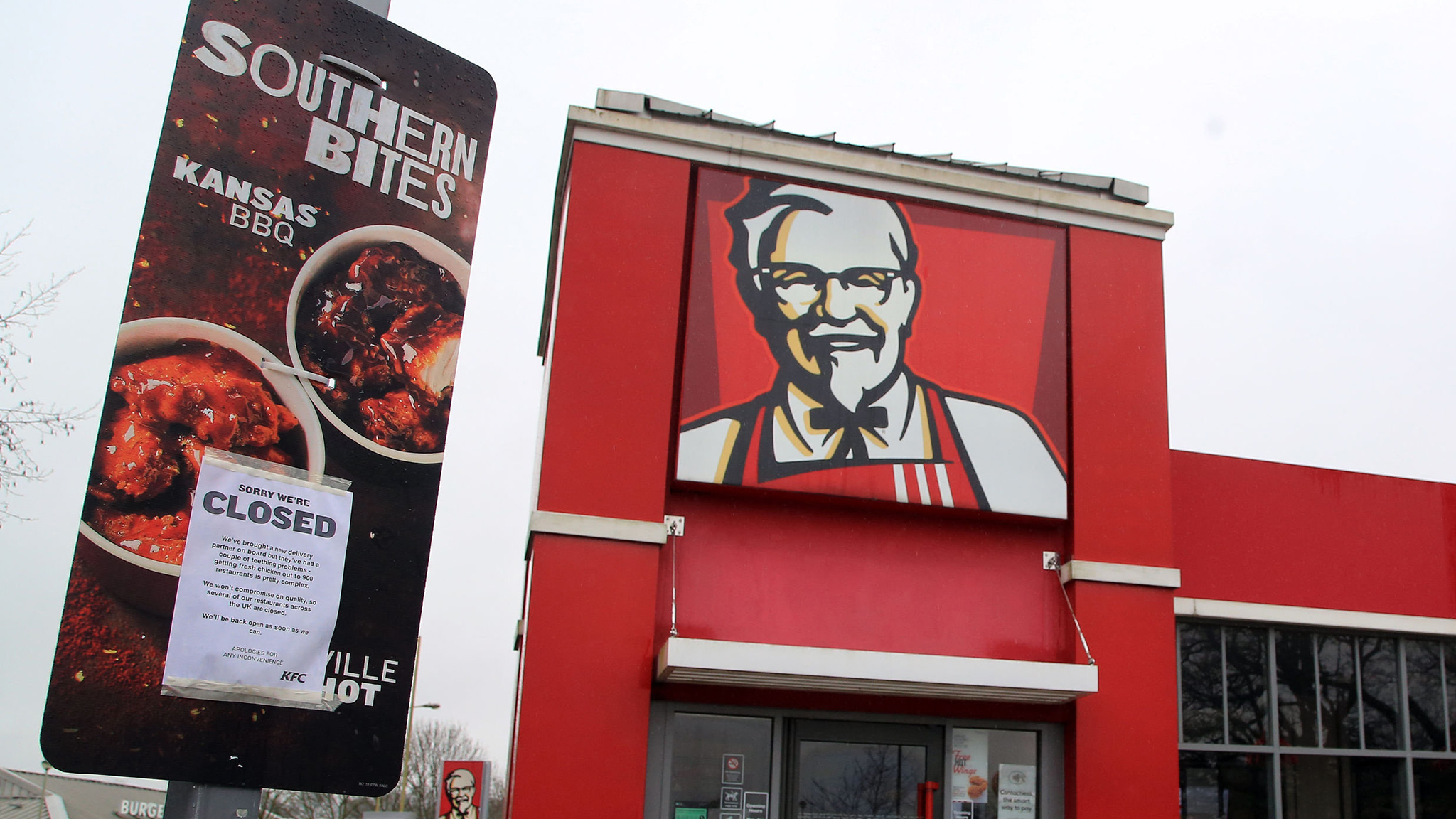 Image result for Britain Chicken Supply Issue KFC Closes Branches