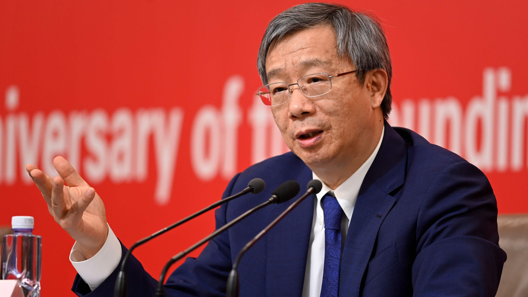 China central bank head warns on strength of regional lenders
