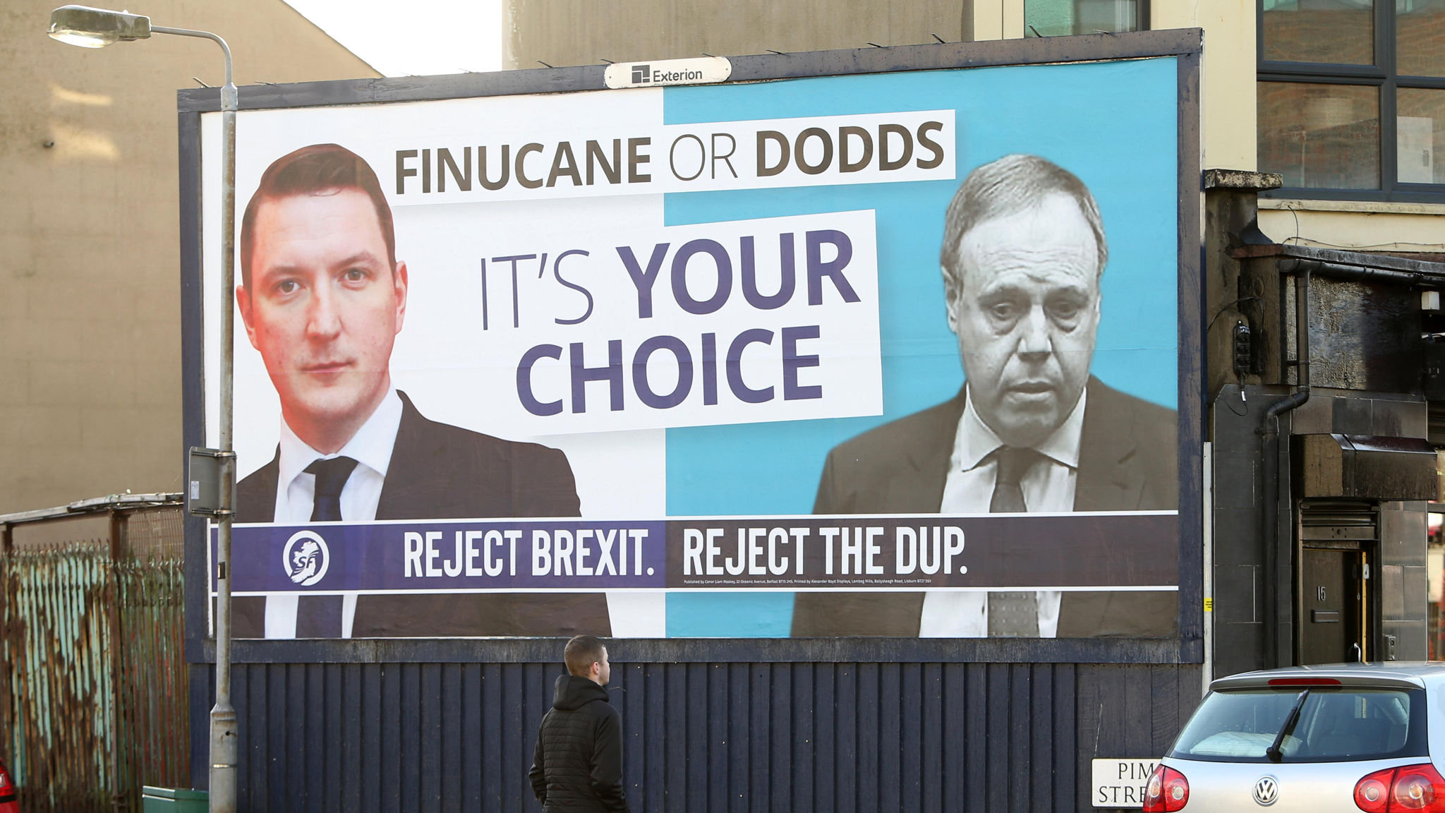 DUP's Nigel Dodds battles to hold his Westminster seat