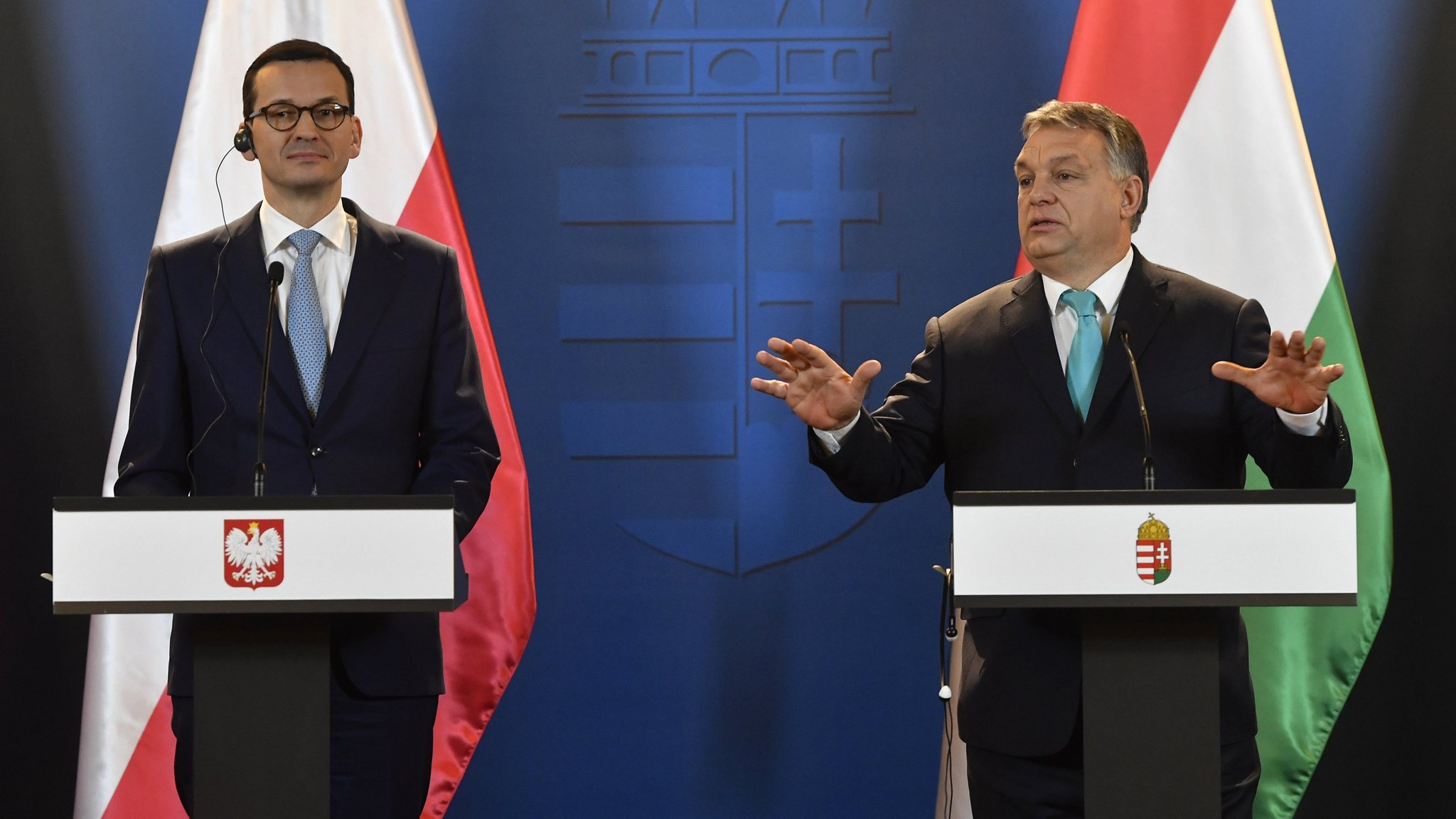 Hungary and Poland fight corner together in EU clash