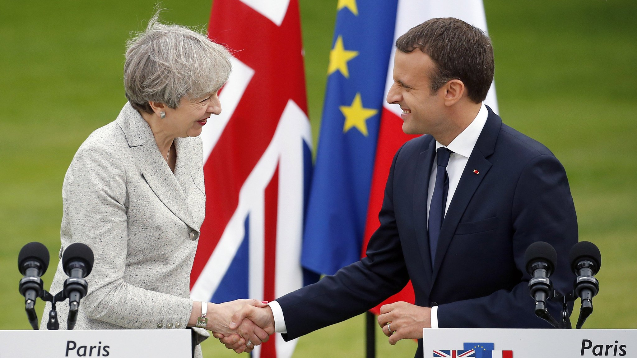 Macron to meet May amid UK Conservative party tensions over Calais