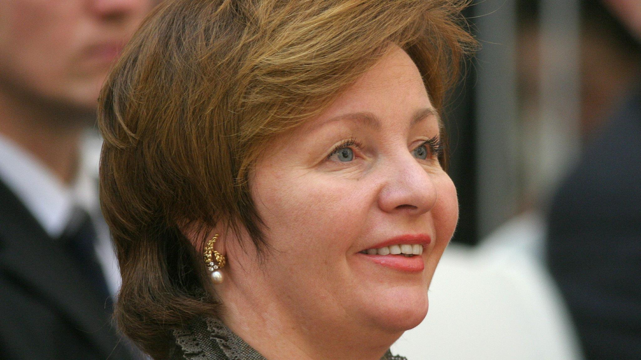 Lyudmila Putina in a confrence