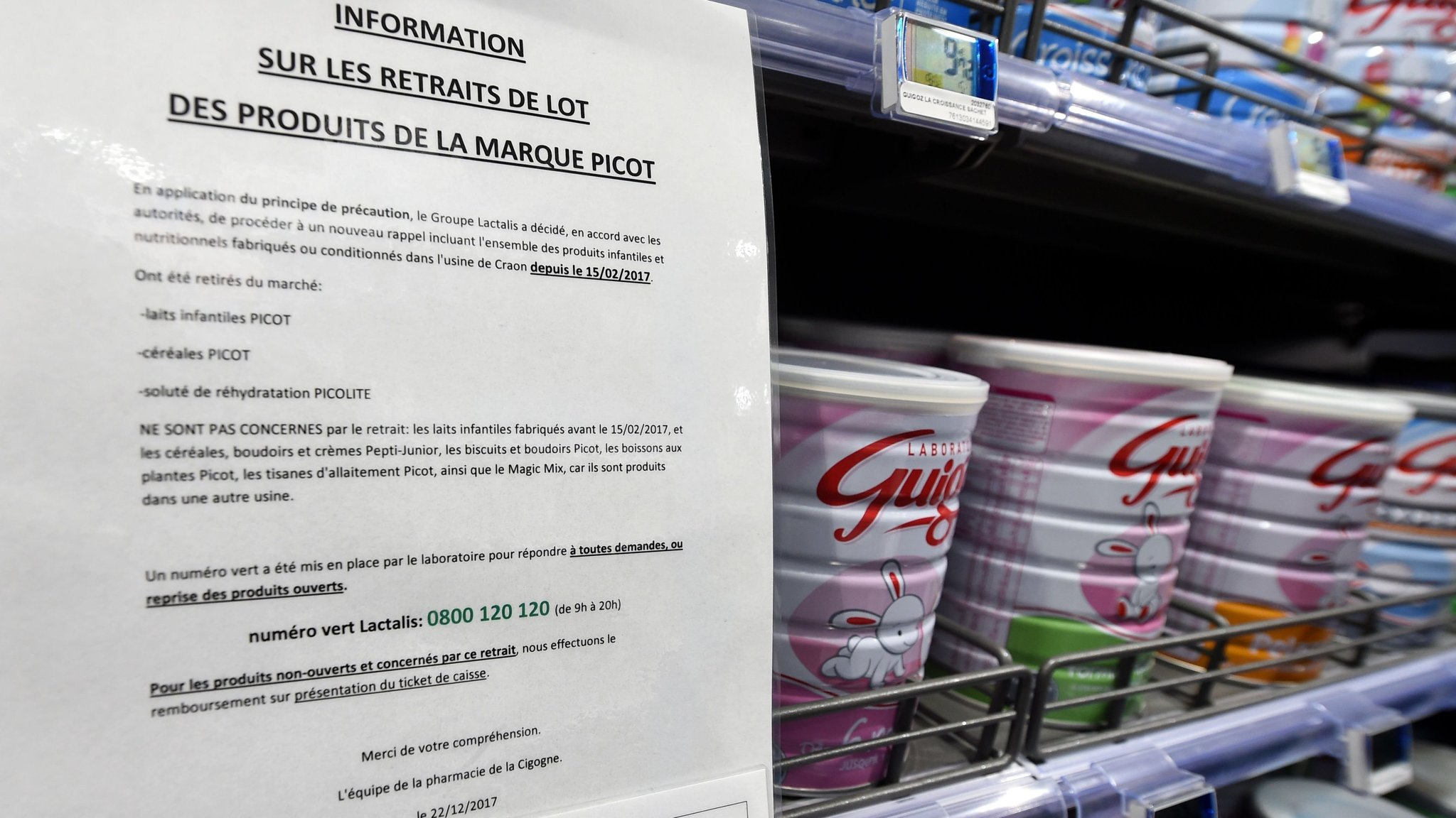Lactalis to pay damages over salmonella contamination