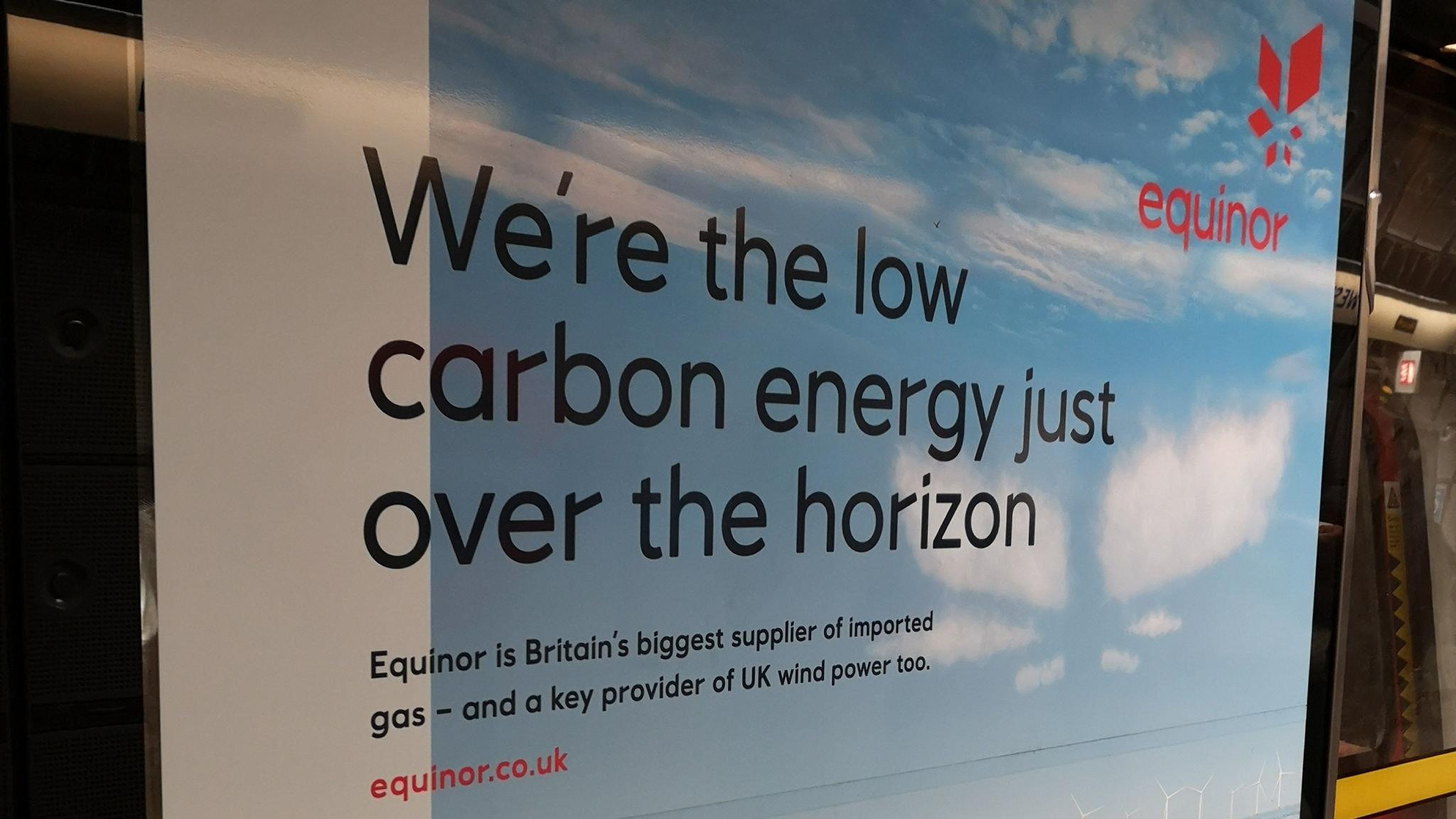 UK watchdog warns energy group Equinor over advertisement