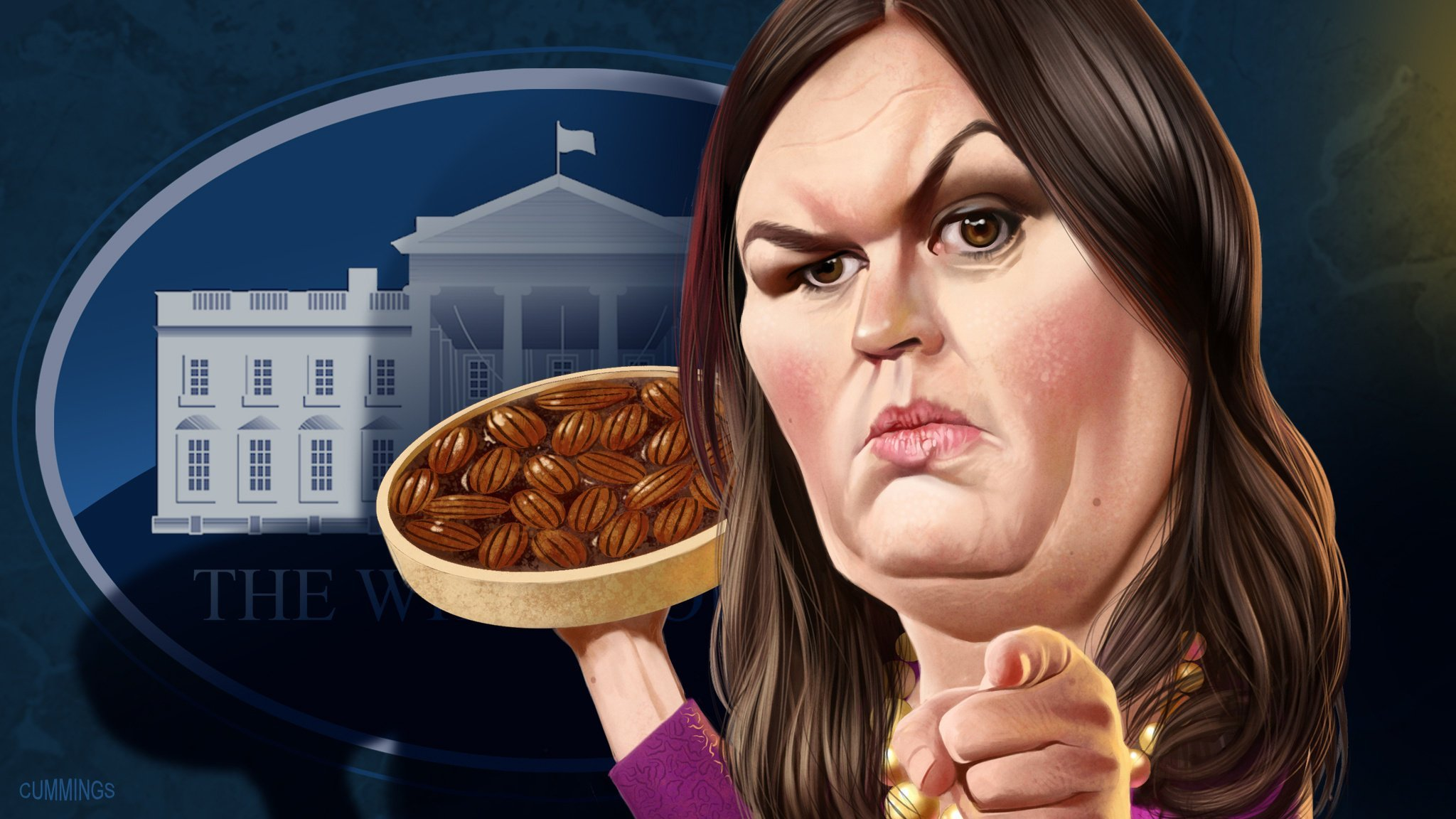sarah huckabee sanders the white house s steely foot soldier. Black Bedroom Furniture Sets. Home Design Ideas