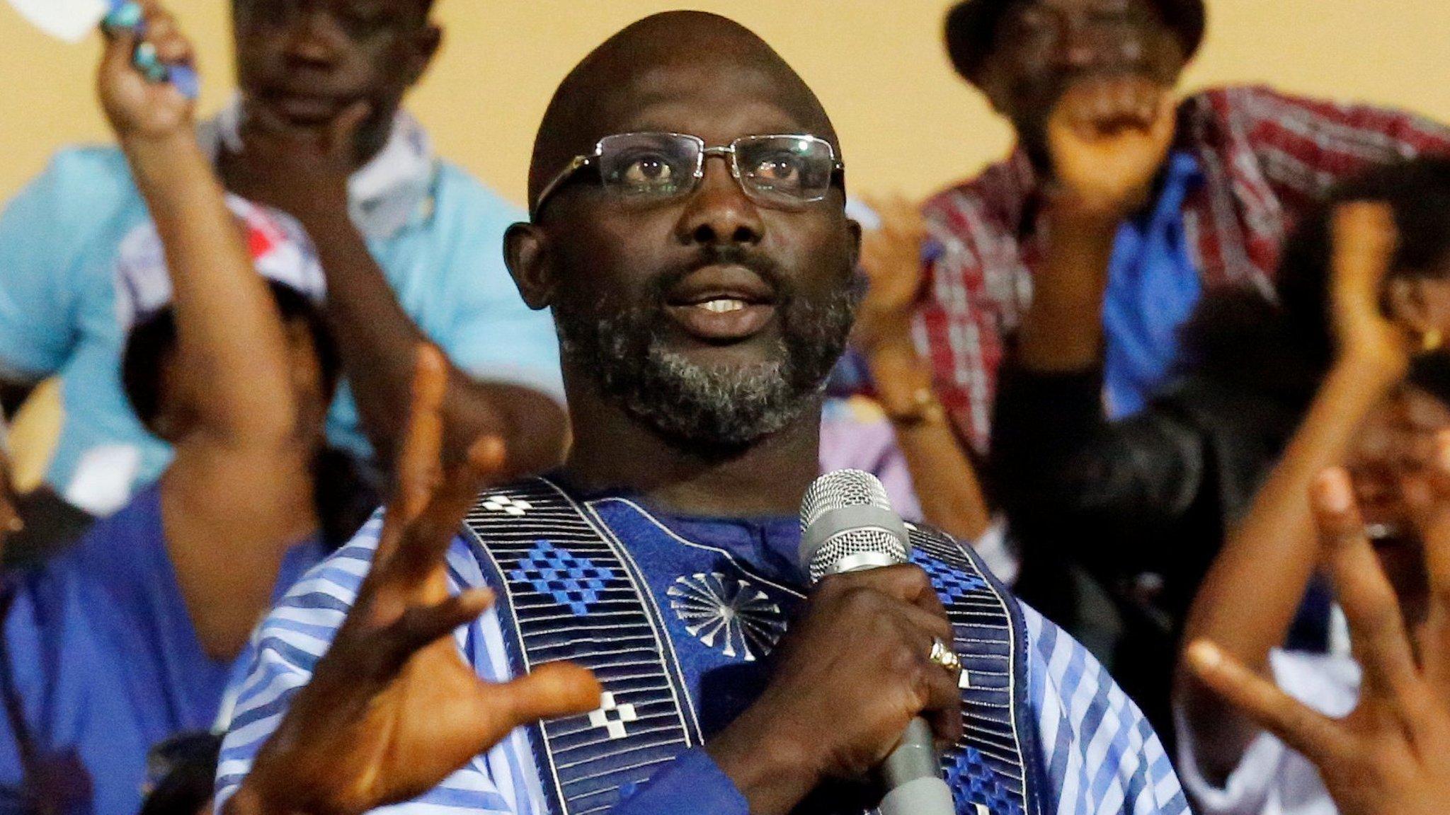 George Weah takes Liberian presidency