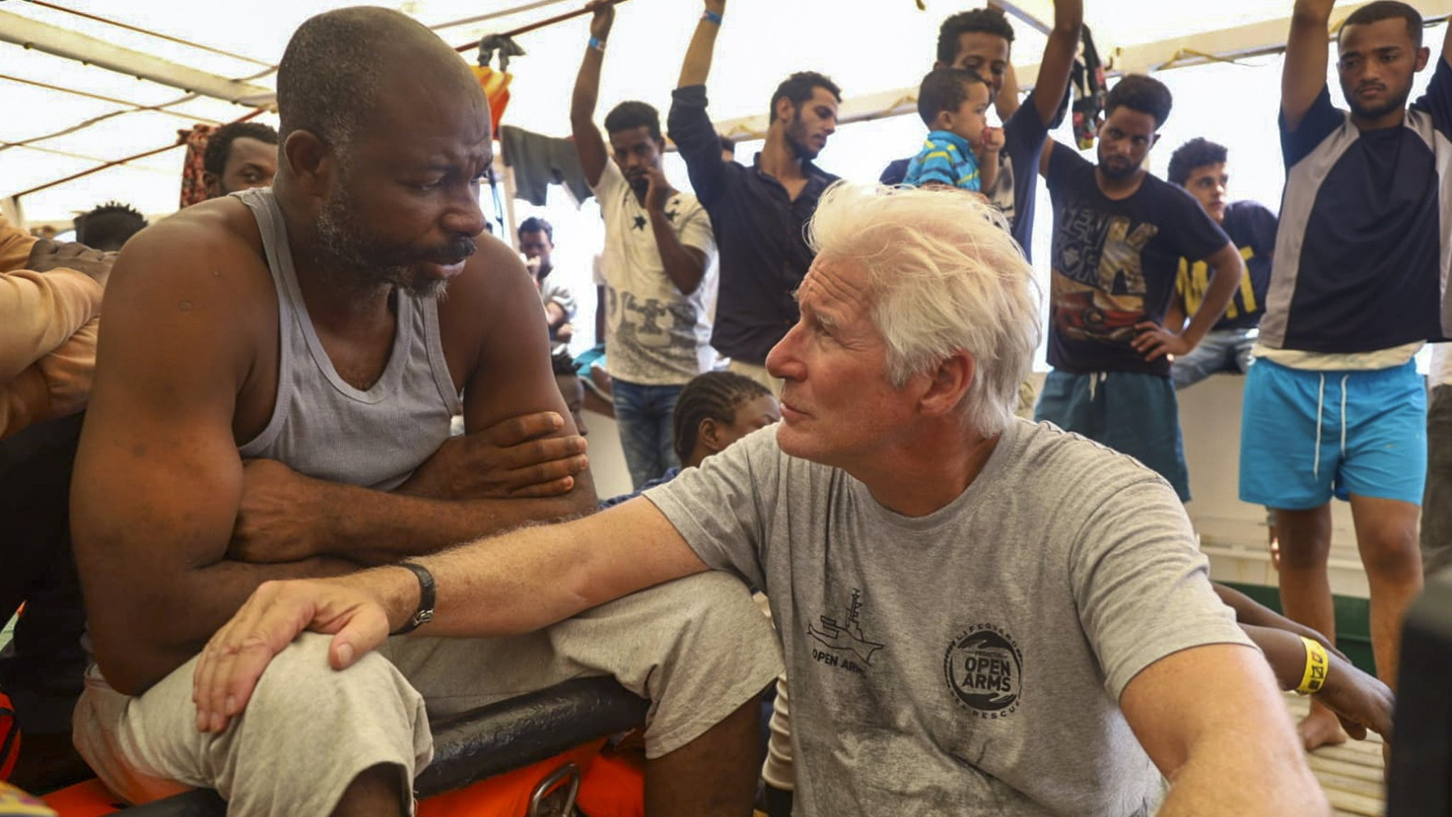 Salvini tells Gere to take rescued migrants 'back to Hollywood'