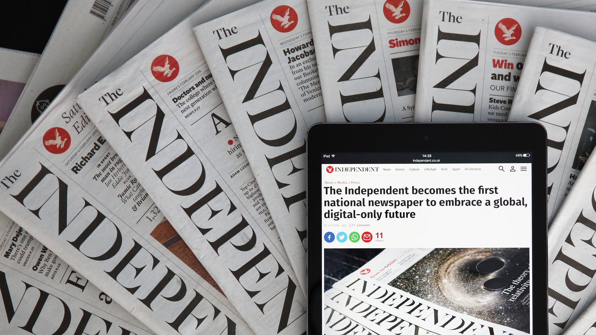 The Independent's print era ends as group crafts digital ...