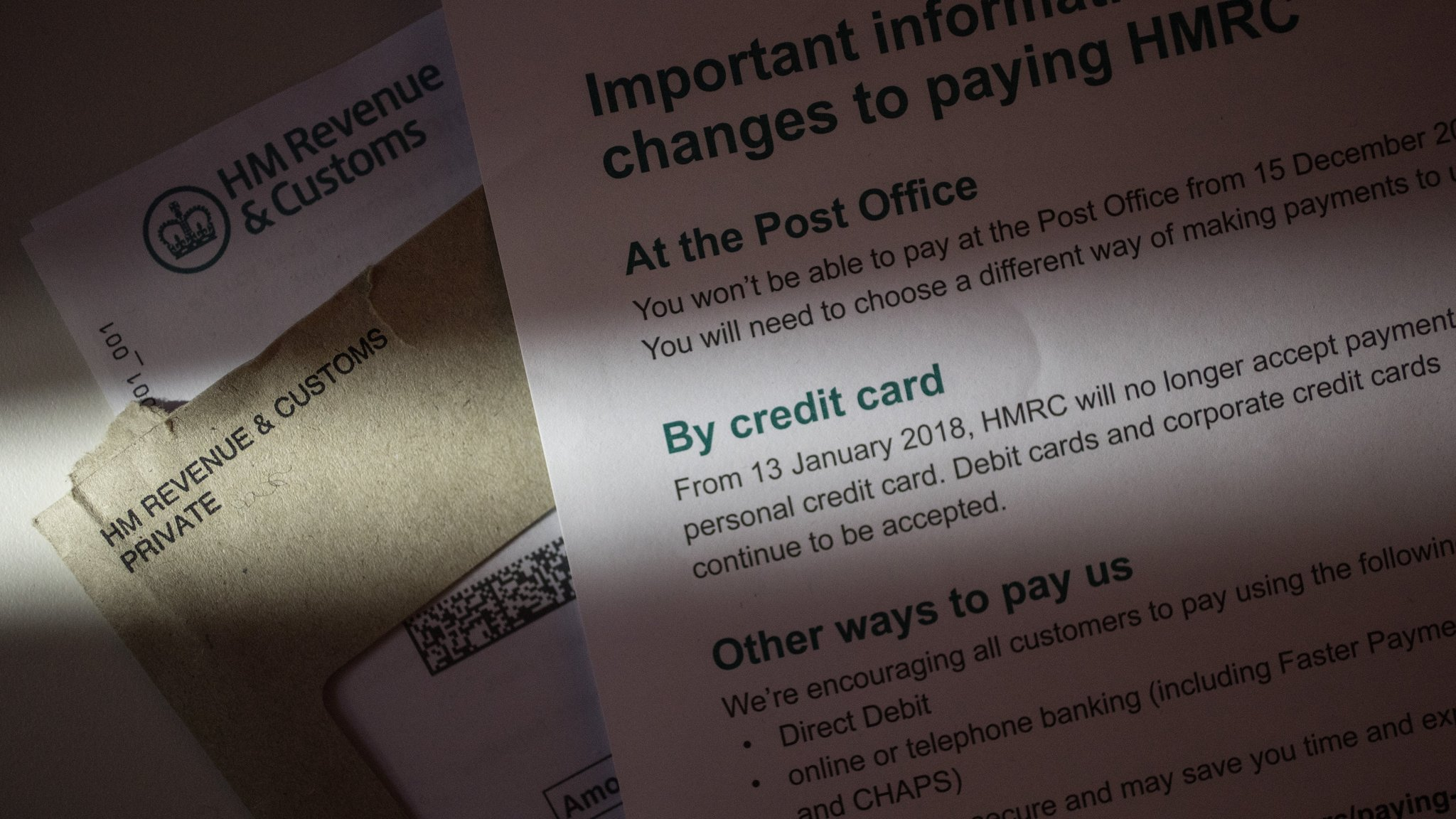 Hmrc bans credit card tax payments from january 13 financial times spiritdancerdesigns Images