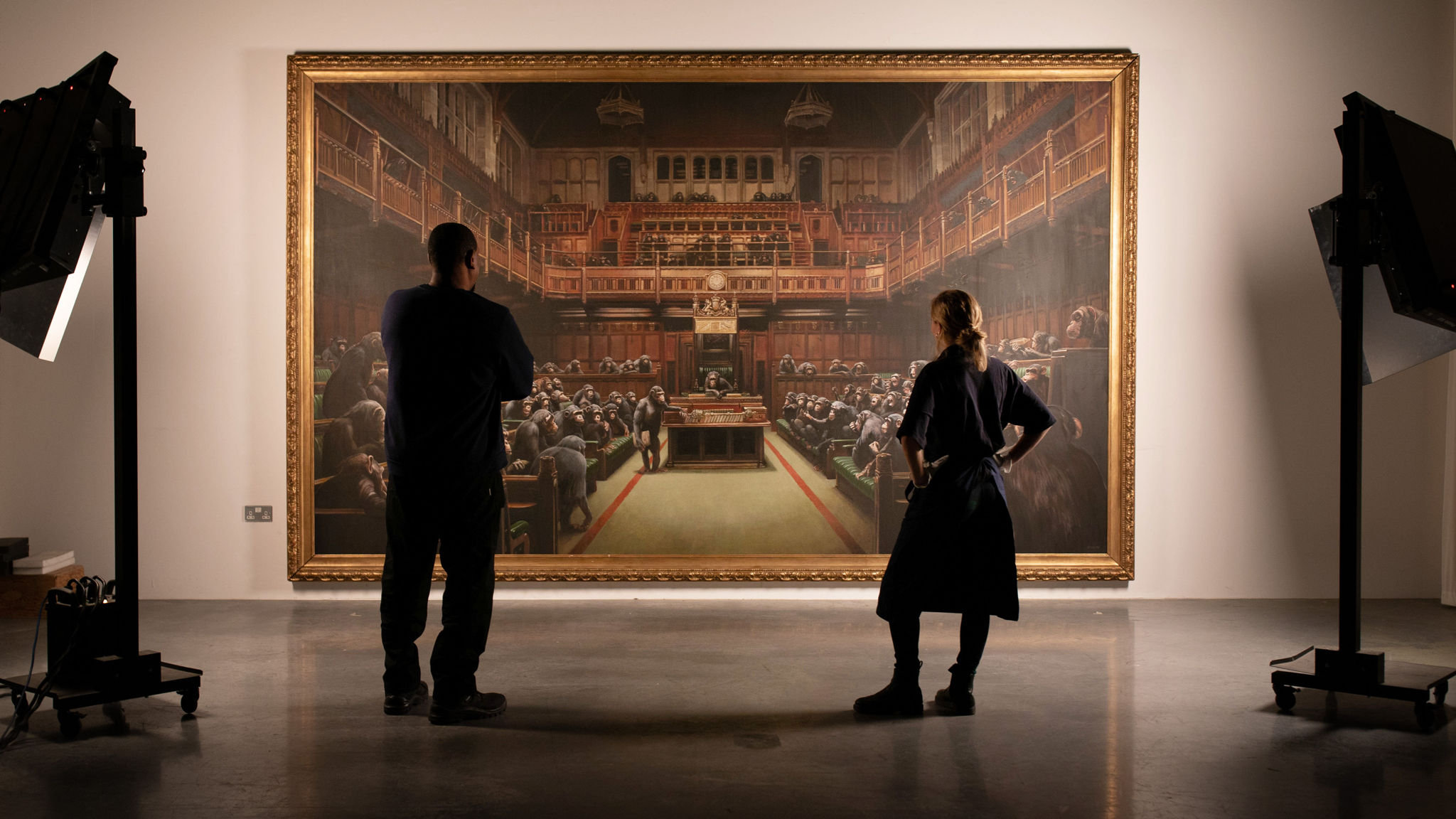 Banksy's 'Devolved Parliament' to be auctioned