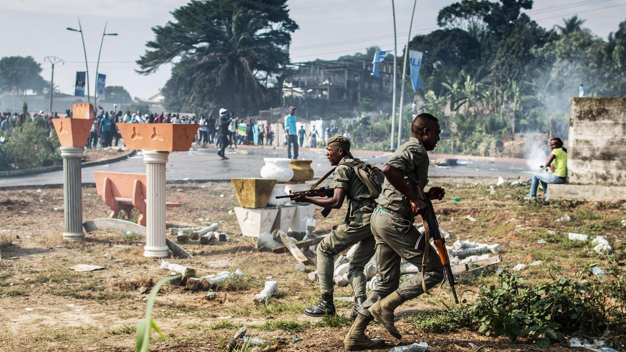 gabon rocked by violence after bongo scrapes disputed election rh ft com gabonreview gabonese