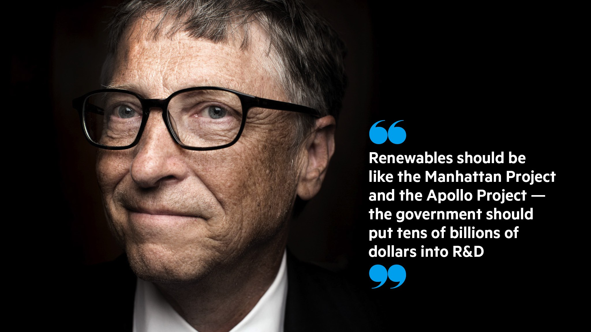 Gates To Double Investment In Renewable Energy Projects
