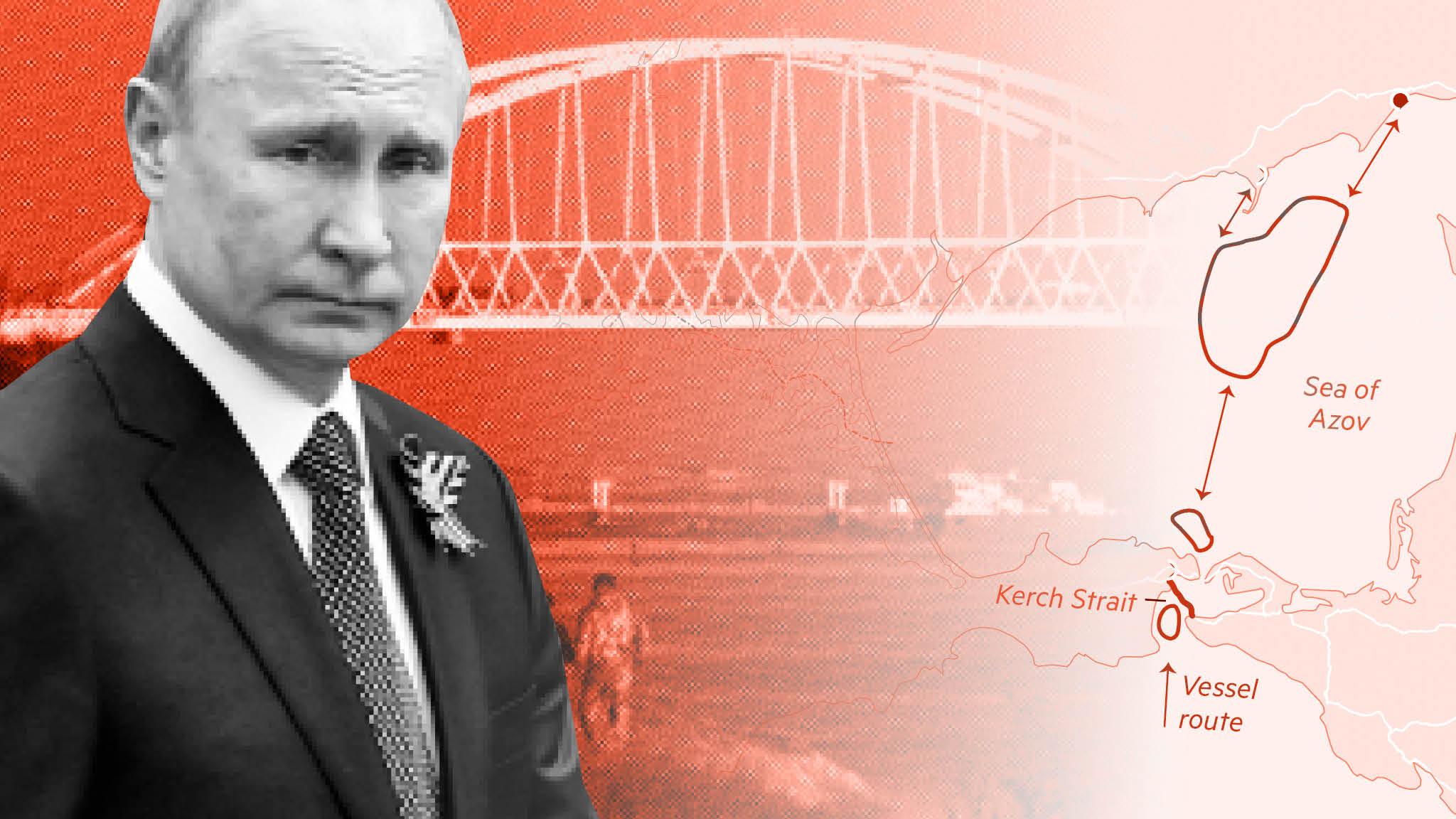 Russian bridge to Crimea strangles Ukraine ports