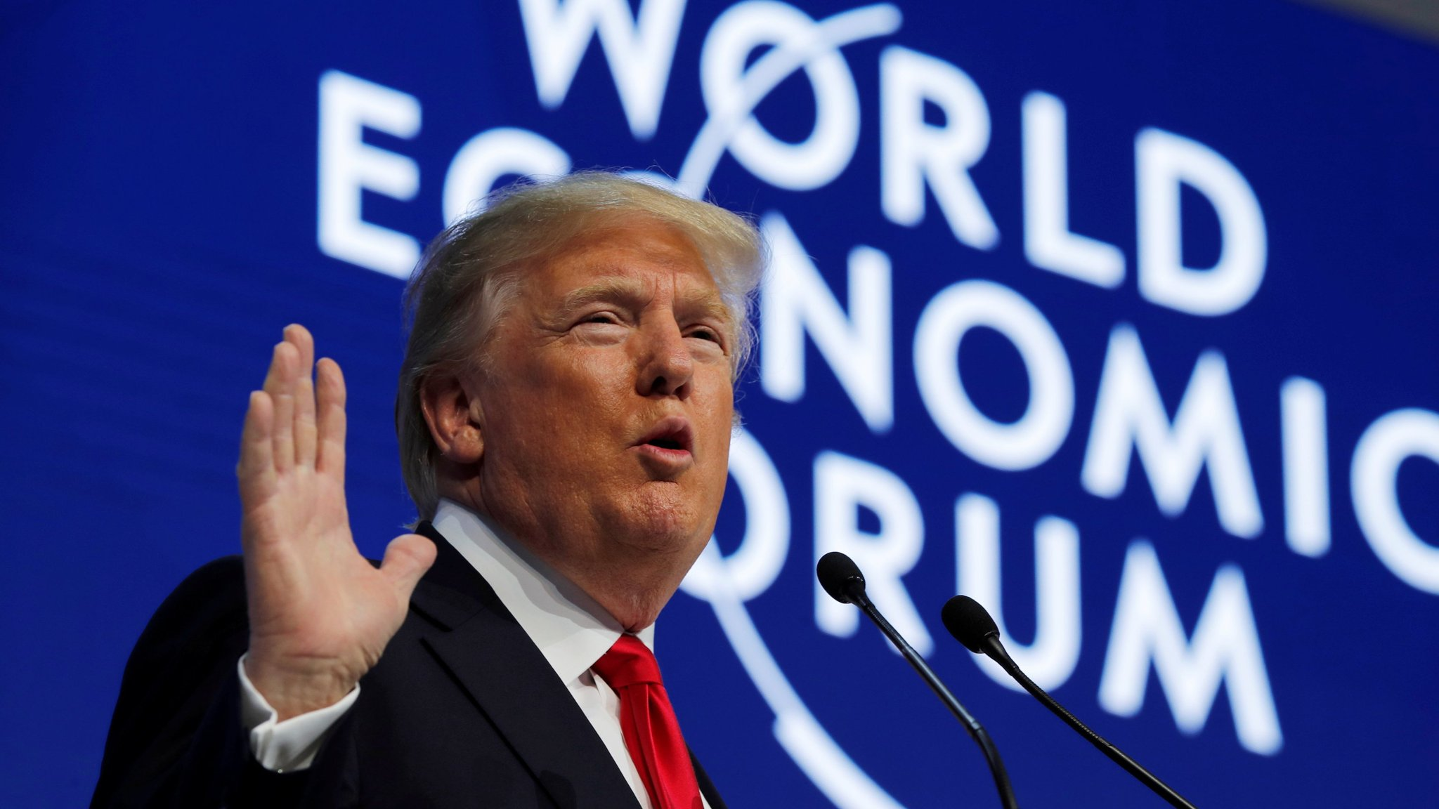 Trump tells Davos 'America First not America alone'