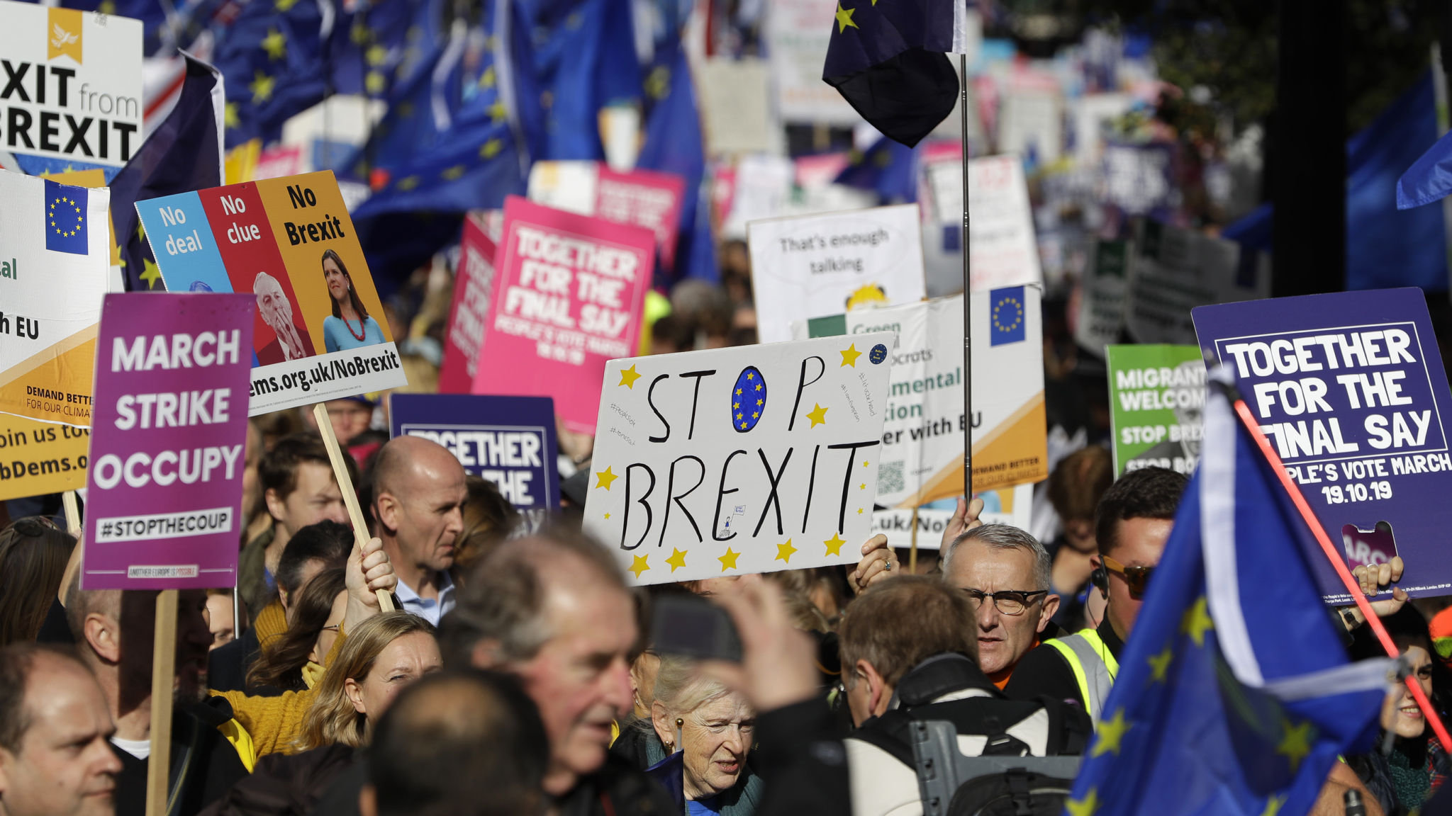 Jubilant protesters cheer on Brexit reprieve