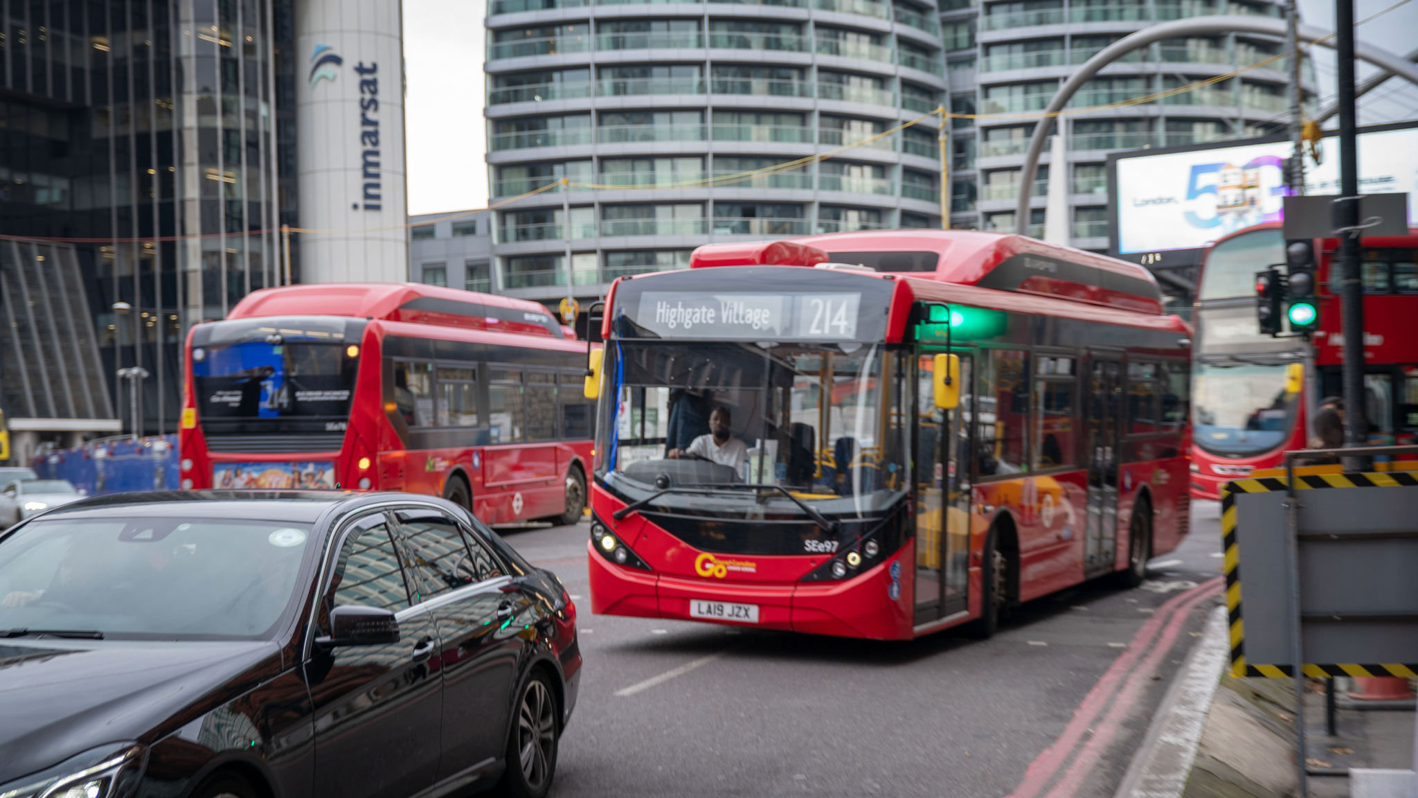 Number 214 to Highgate leads UK's electric bus charge