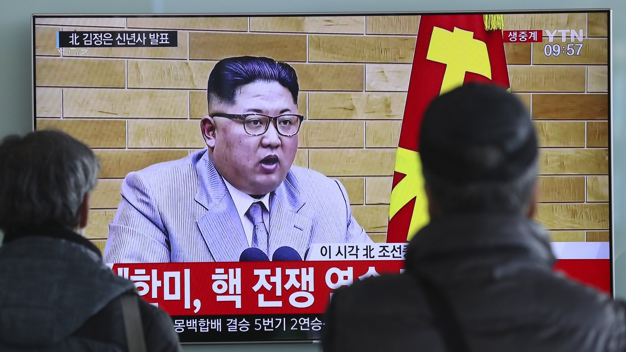 North Korea's Kim Jong-un offers hope of dialogue with Seoul