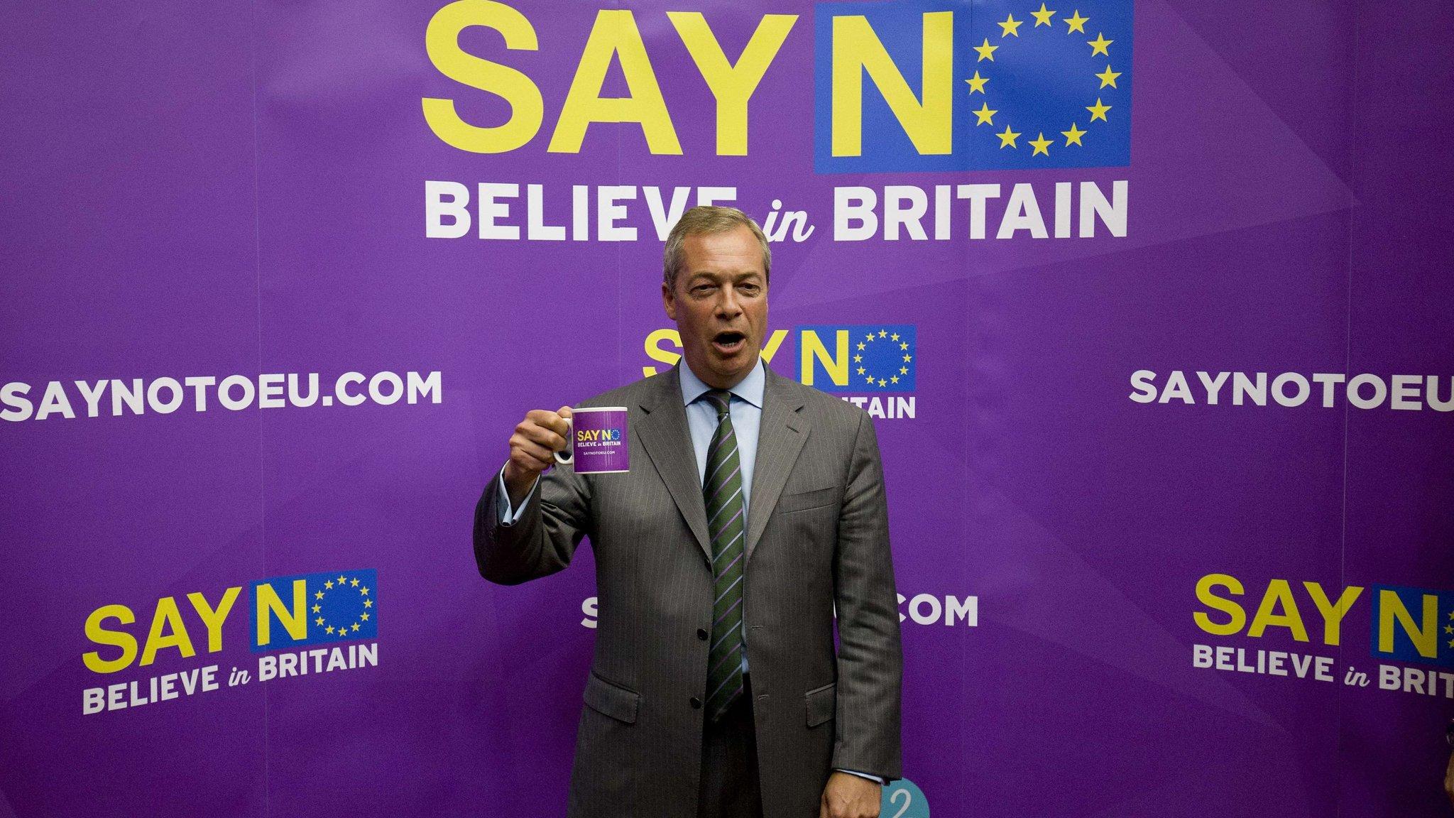 I THINK THEREFORE I VOTE UKIP T-SHIRT PURPLE BRITISH ELECTION UK NIGEL FARAGE