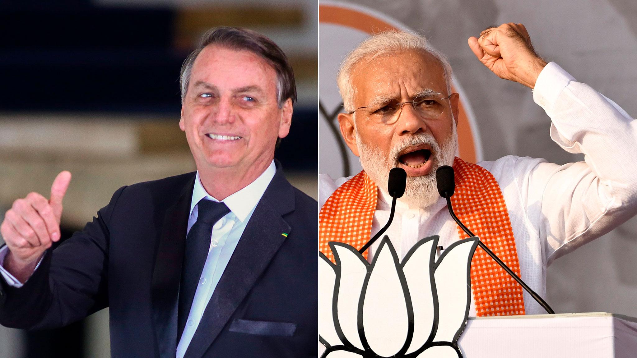 Jair Bolsonaro finds unlikely ally in Hindu nationalist Modi