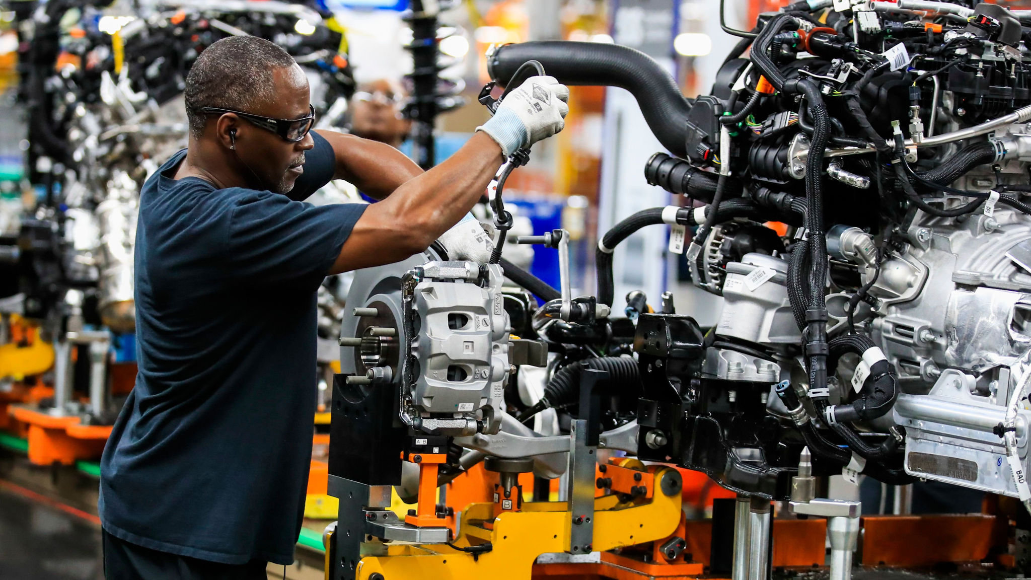US industrial production unexpectedly slips in July