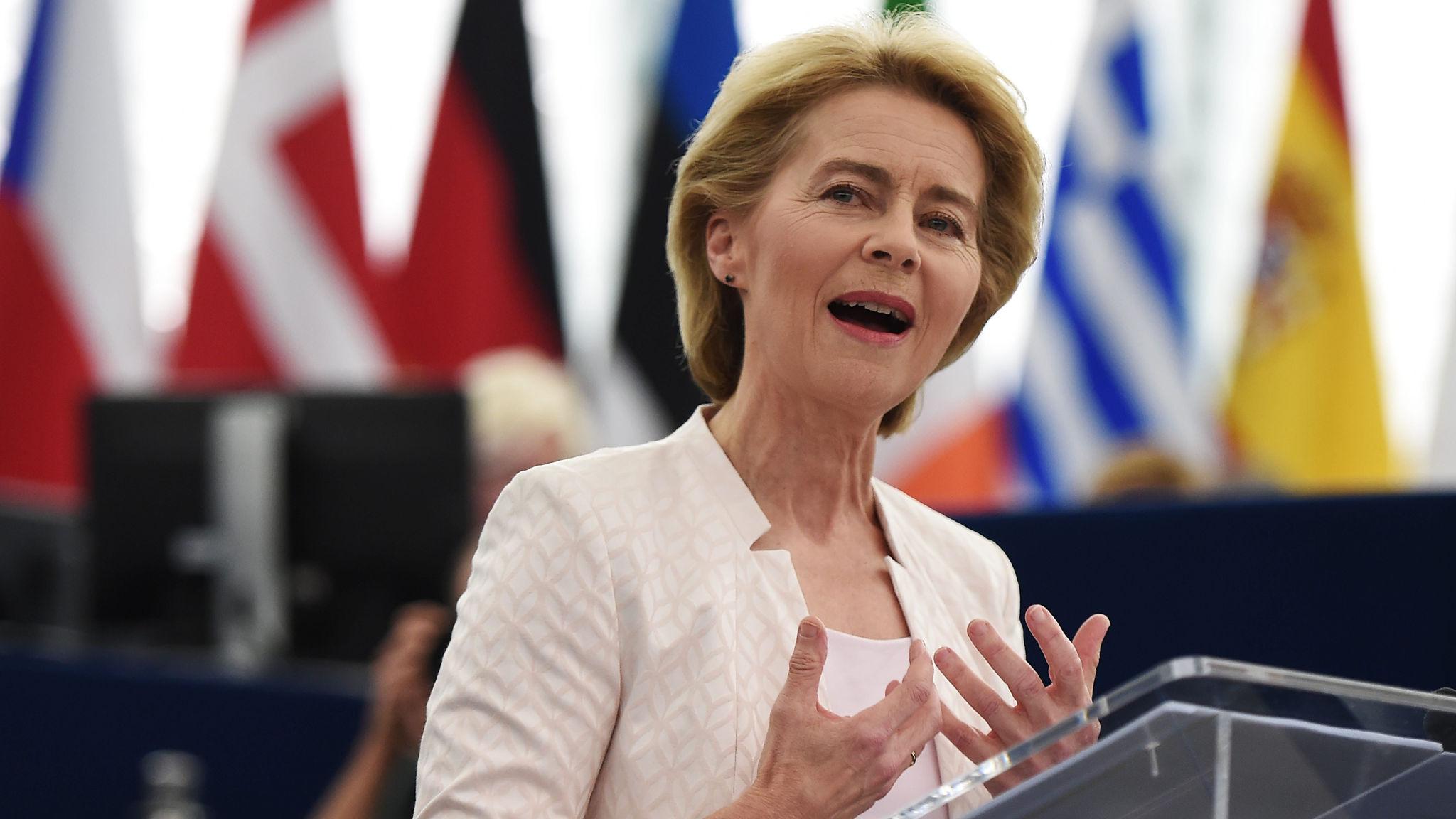 Ursula von der Leyen makes final pitch to MEPs