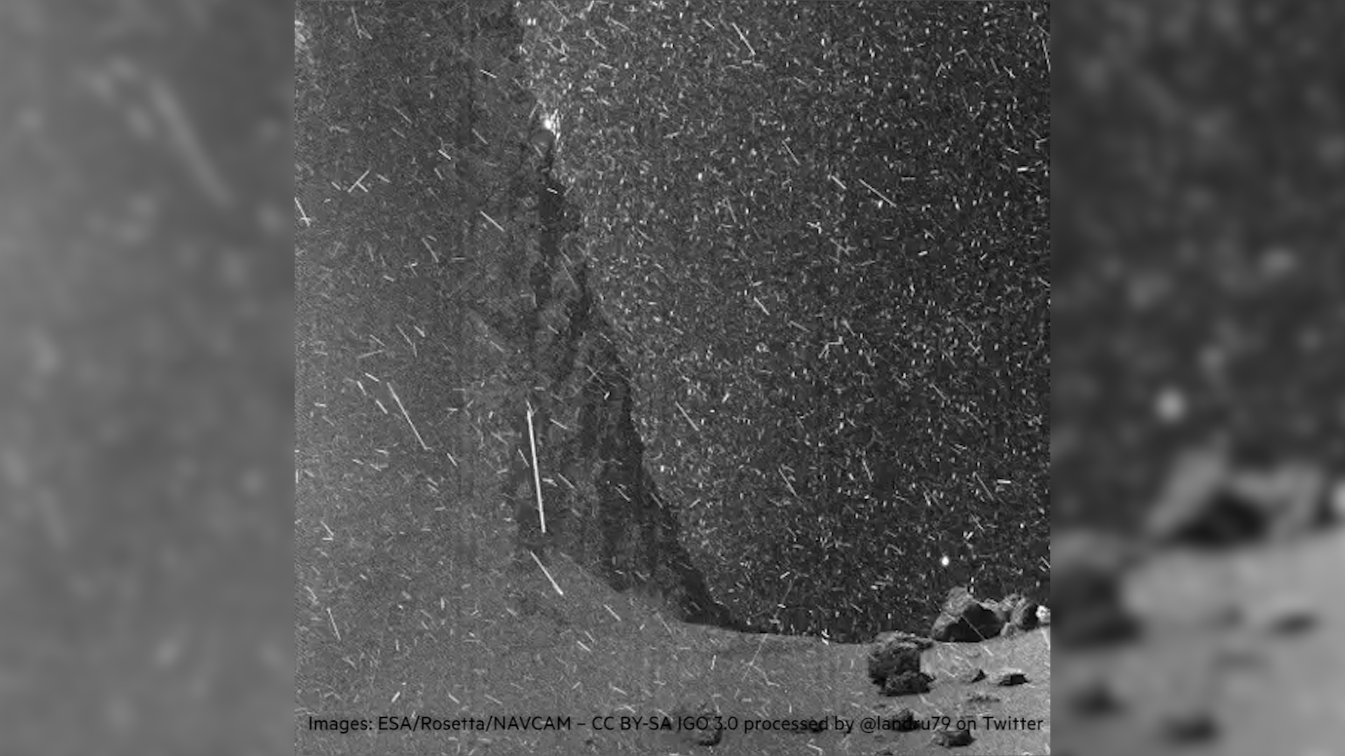 A rare view of the surface of a comet