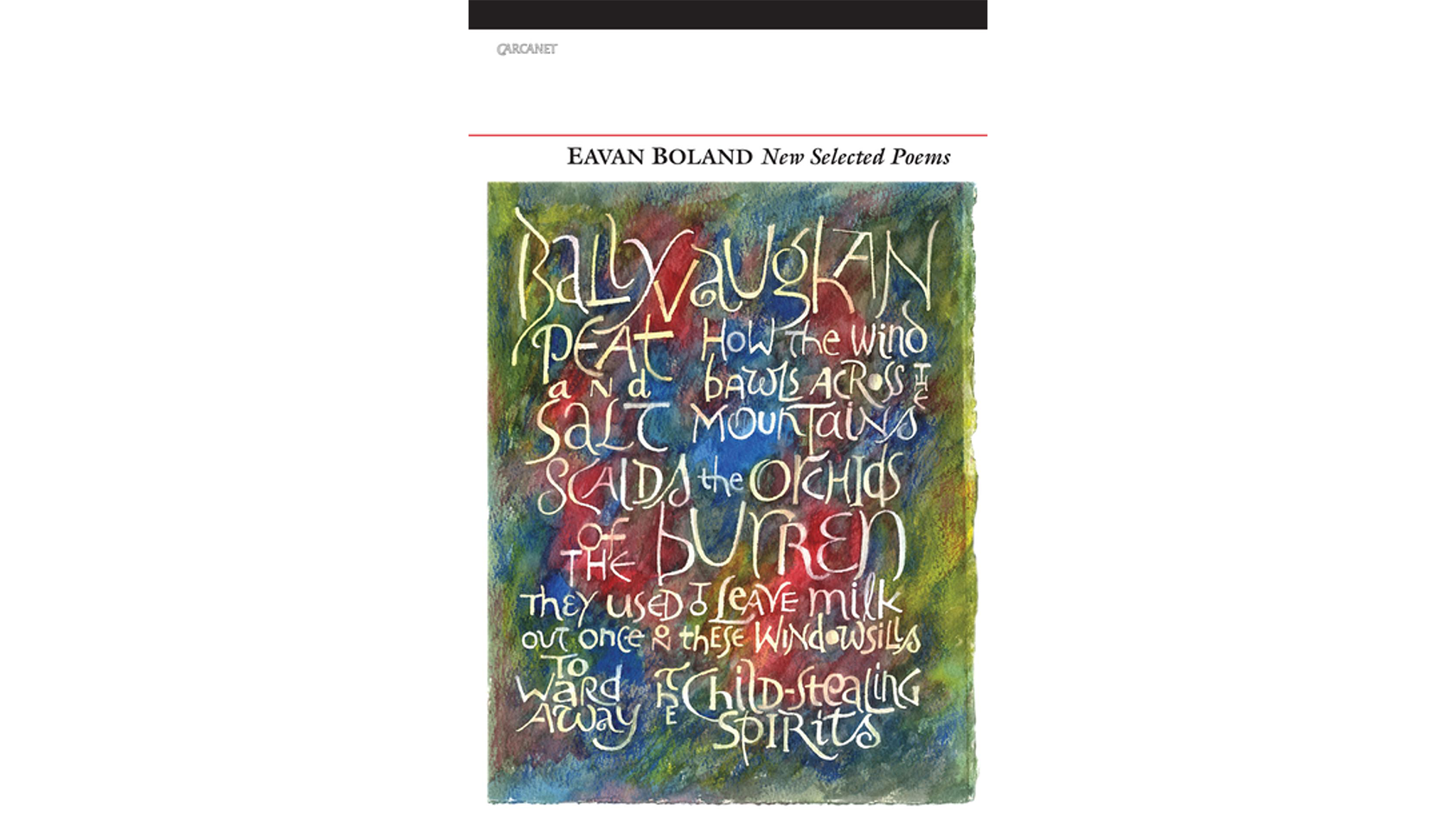 The Poem Irish Poetry By Eavan Boland Financial Times