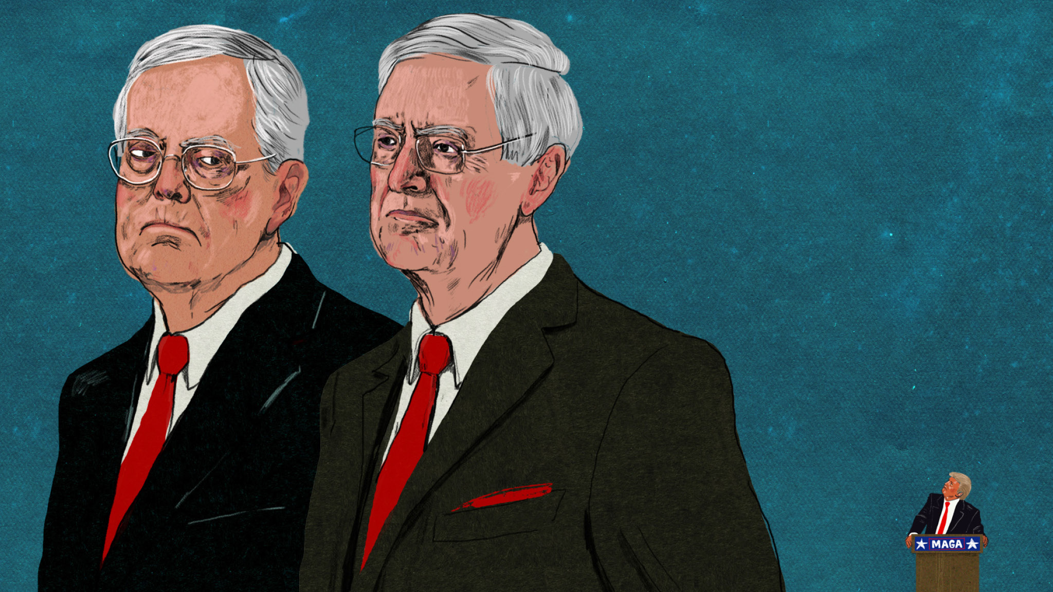 Charles and David Koch: billionaire donors in the line of