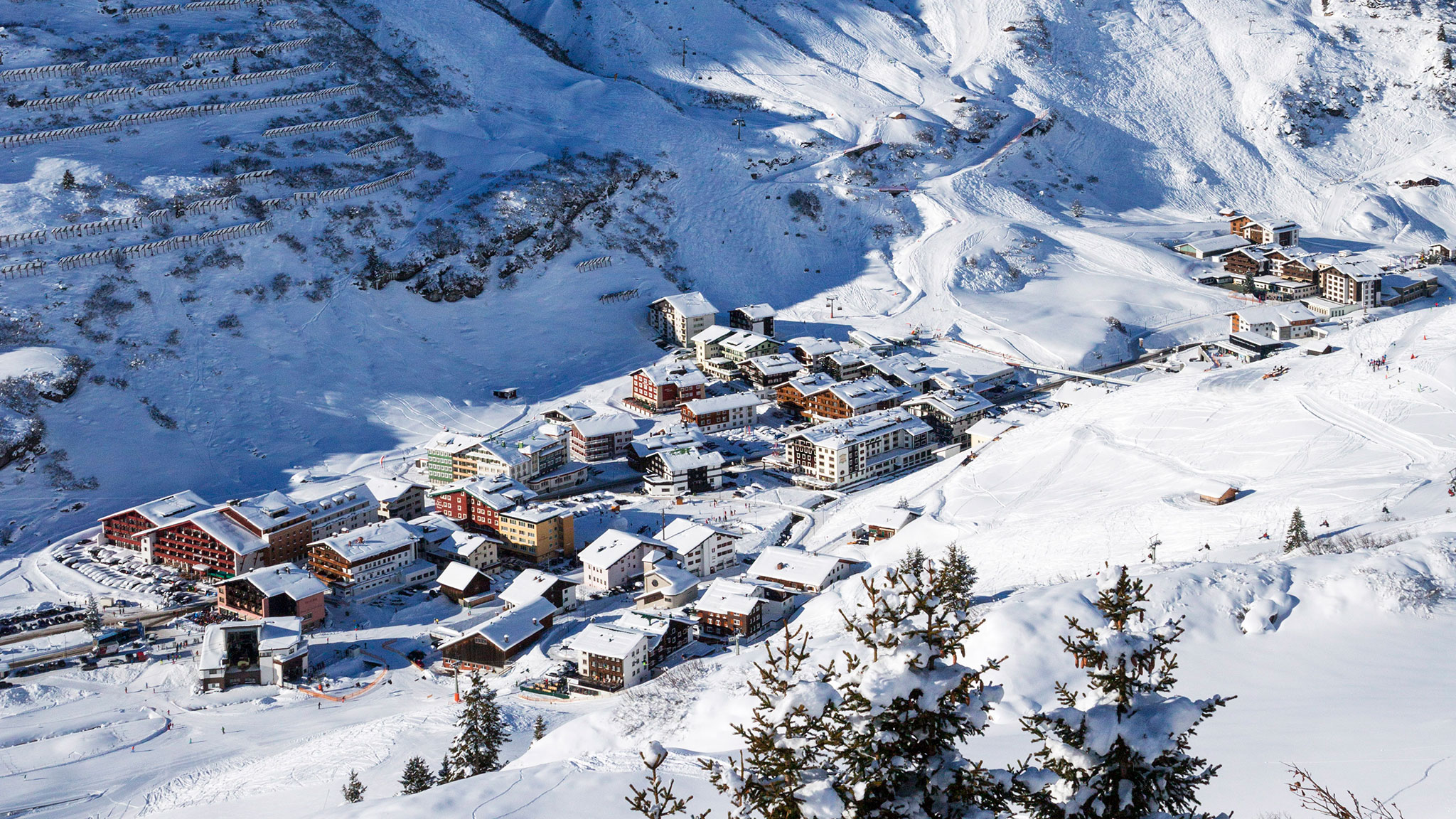 lech the good times roll: austrian ski resort's mini building boom