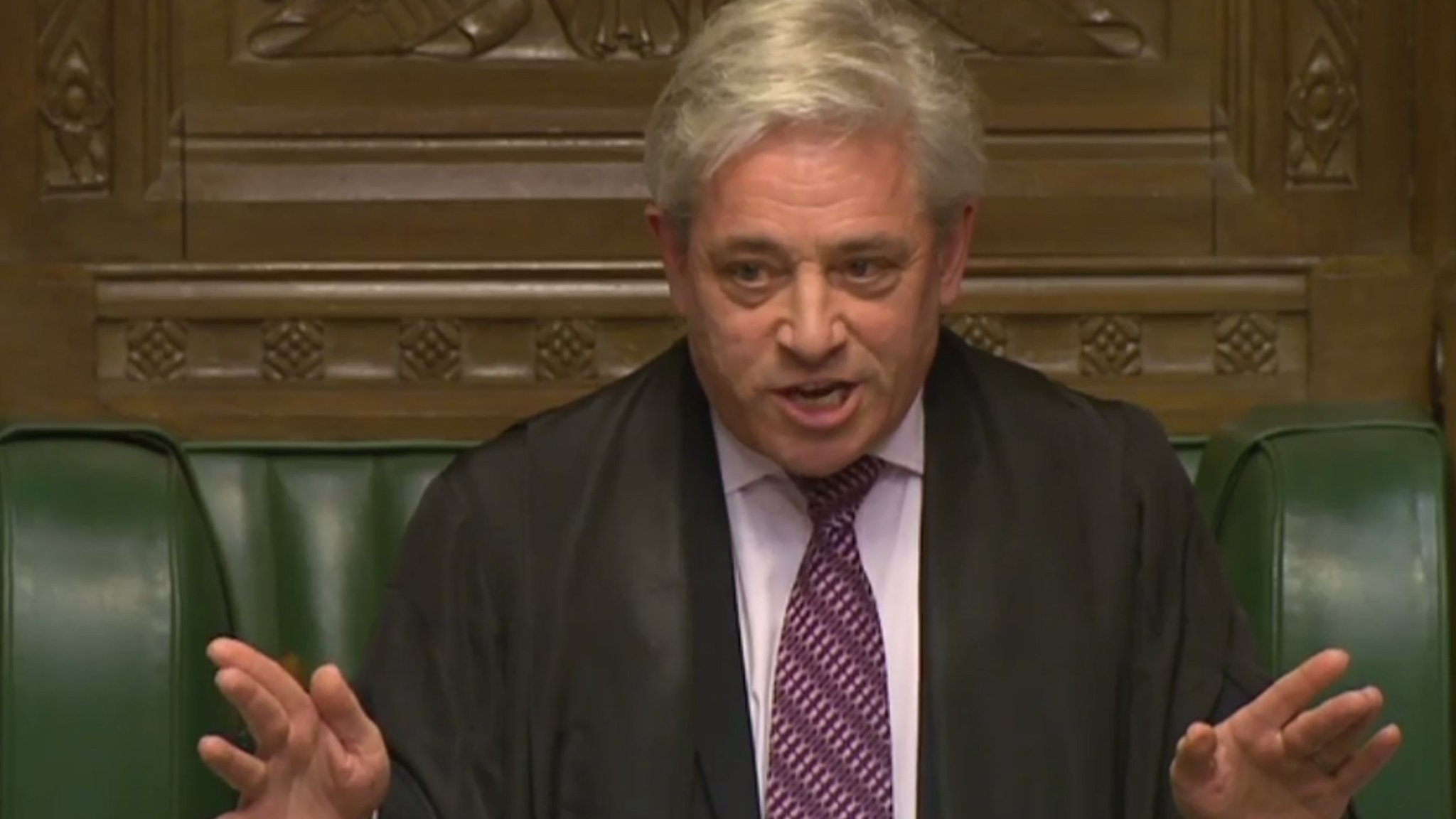 john bercow criticised for intervening in row over trump visit