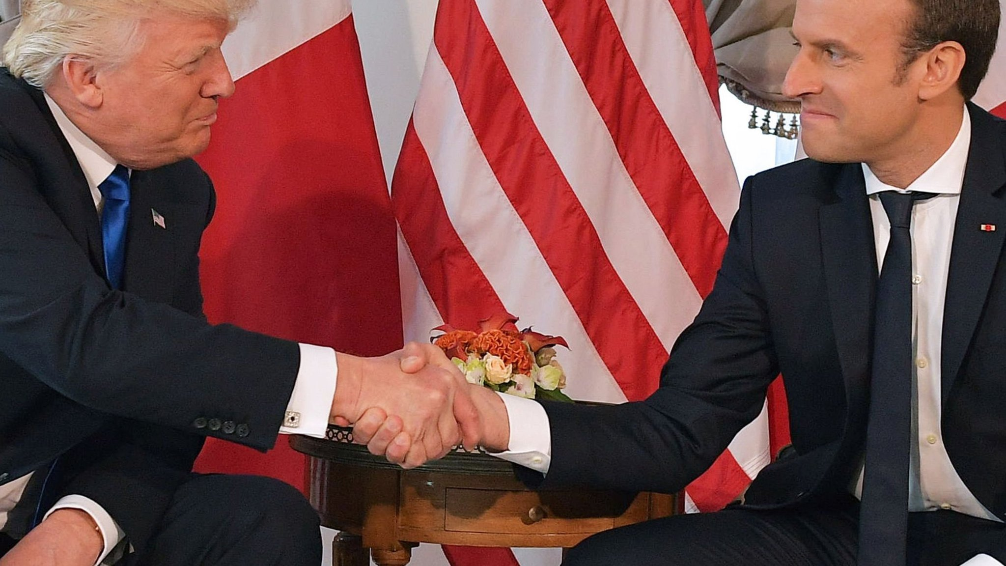 Why donald trumps weird handshake matters kristyandbryce Choice Image