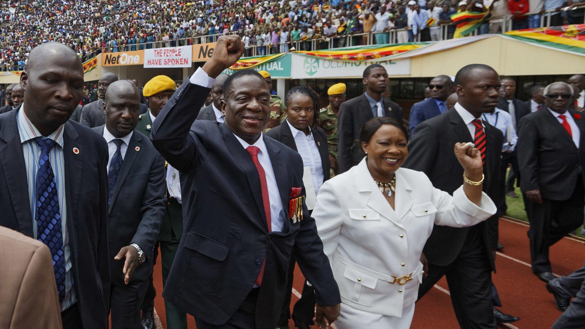 Mnangagwa sworn in as Zimbabwe's president