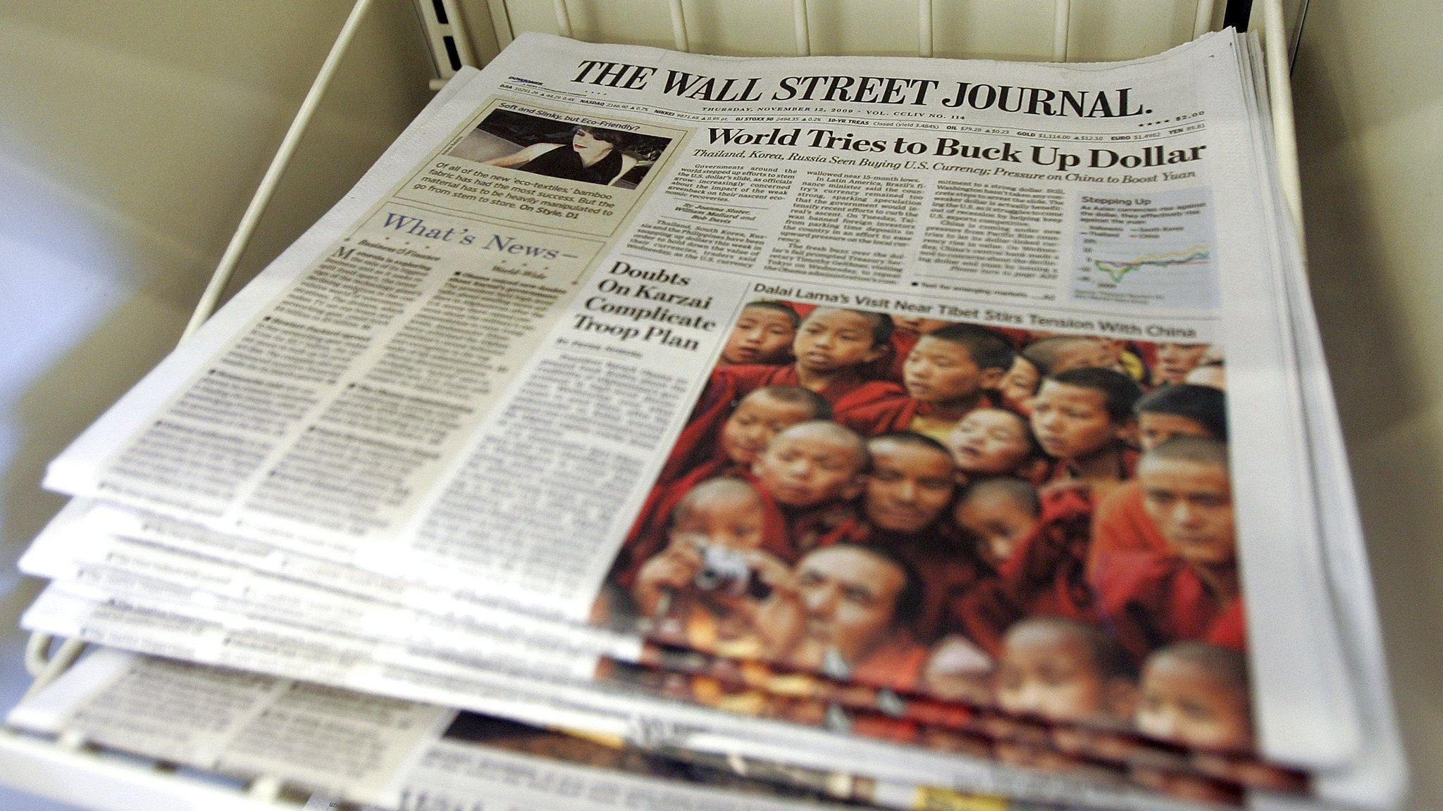 Wall Street Journal to cut back print outside the US   Financial Times
