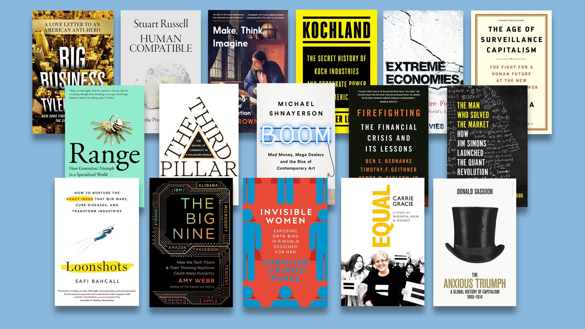 Business Book of the Year Award 2019 — the longlist