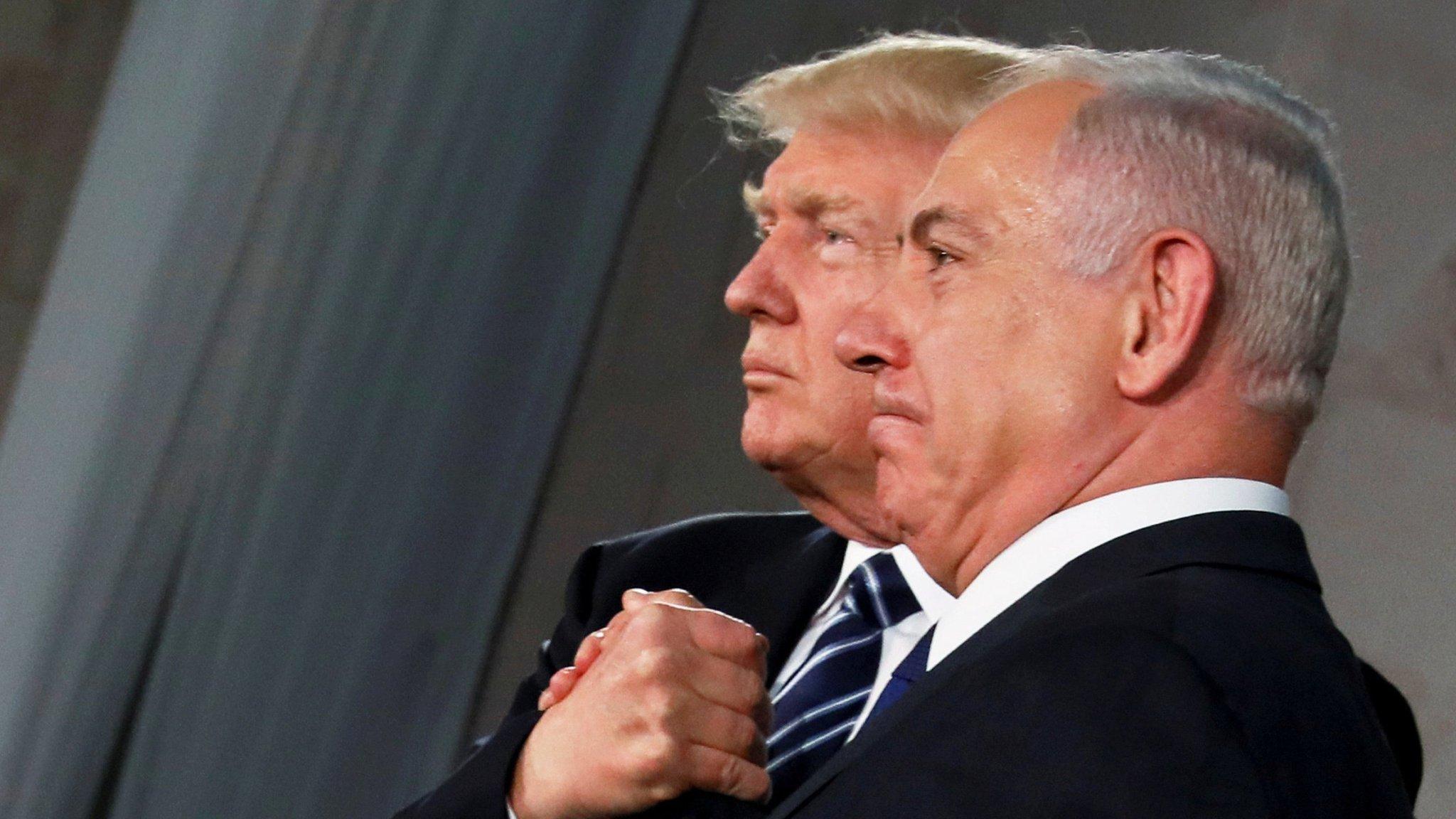 Image result for trump embraces netanyahu