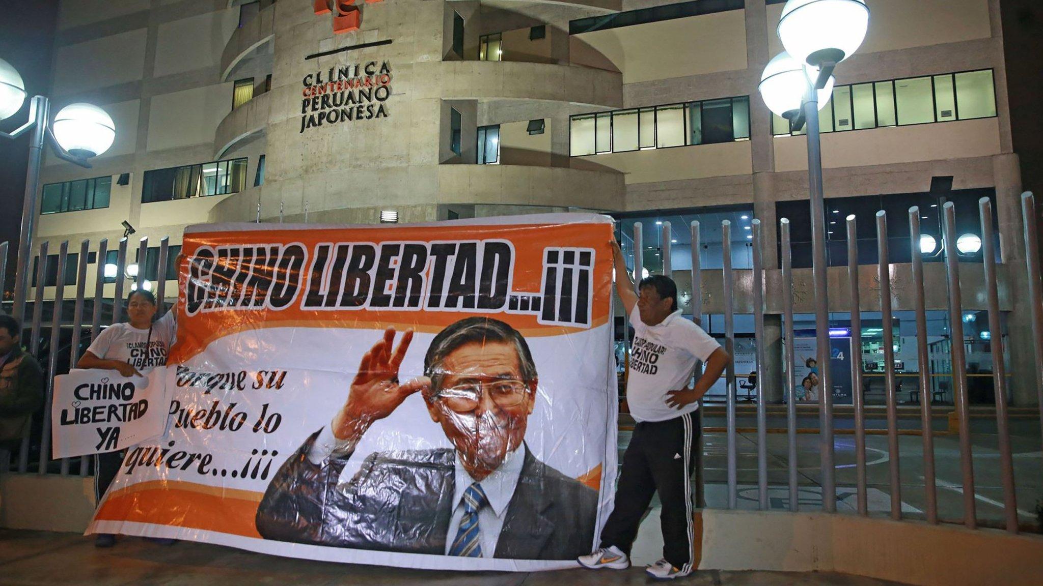 Peru leader pardons ex-president Fujimori on health grounds