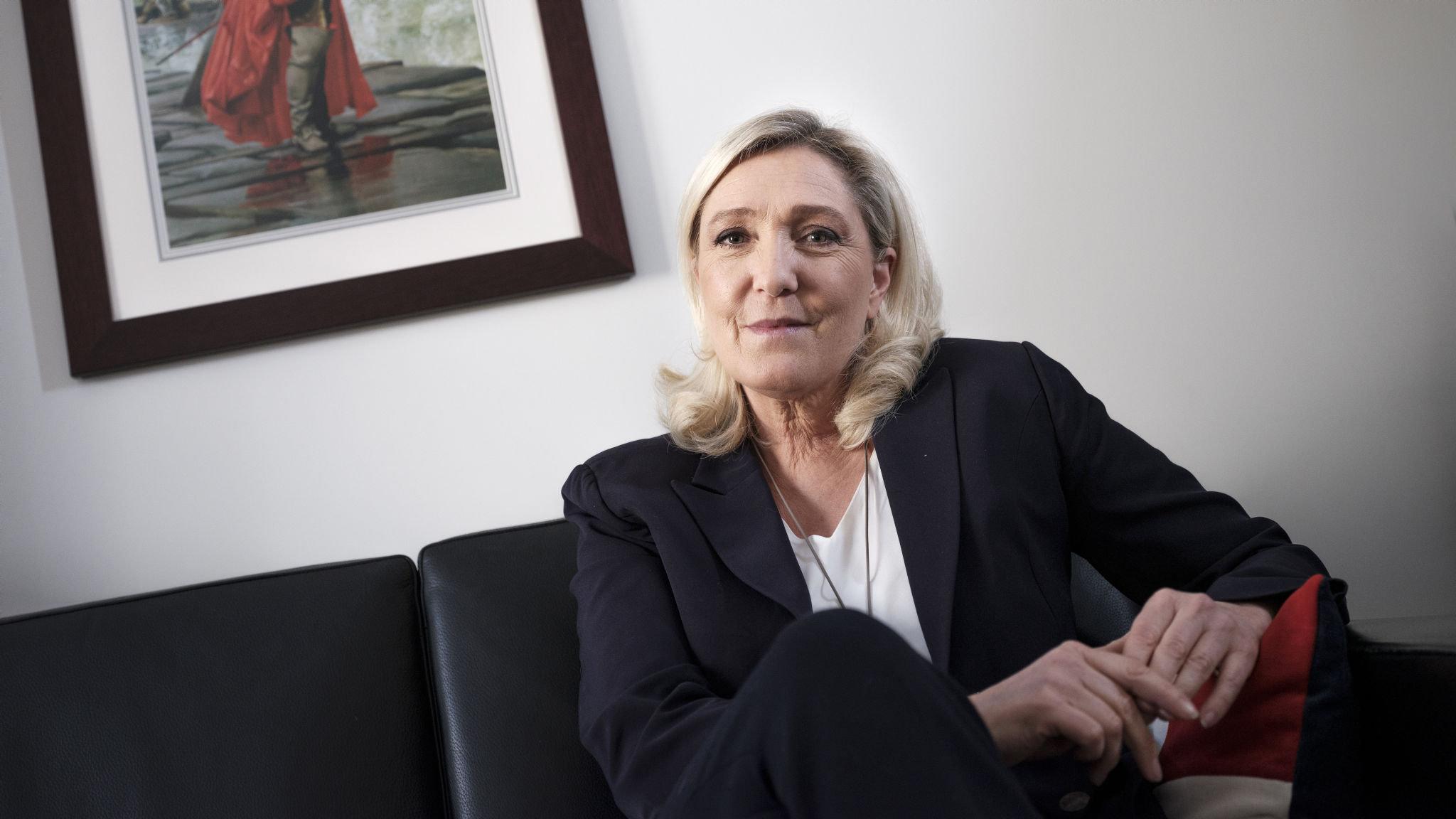 Resurgent Marine Le Pen revels in Macron's woes