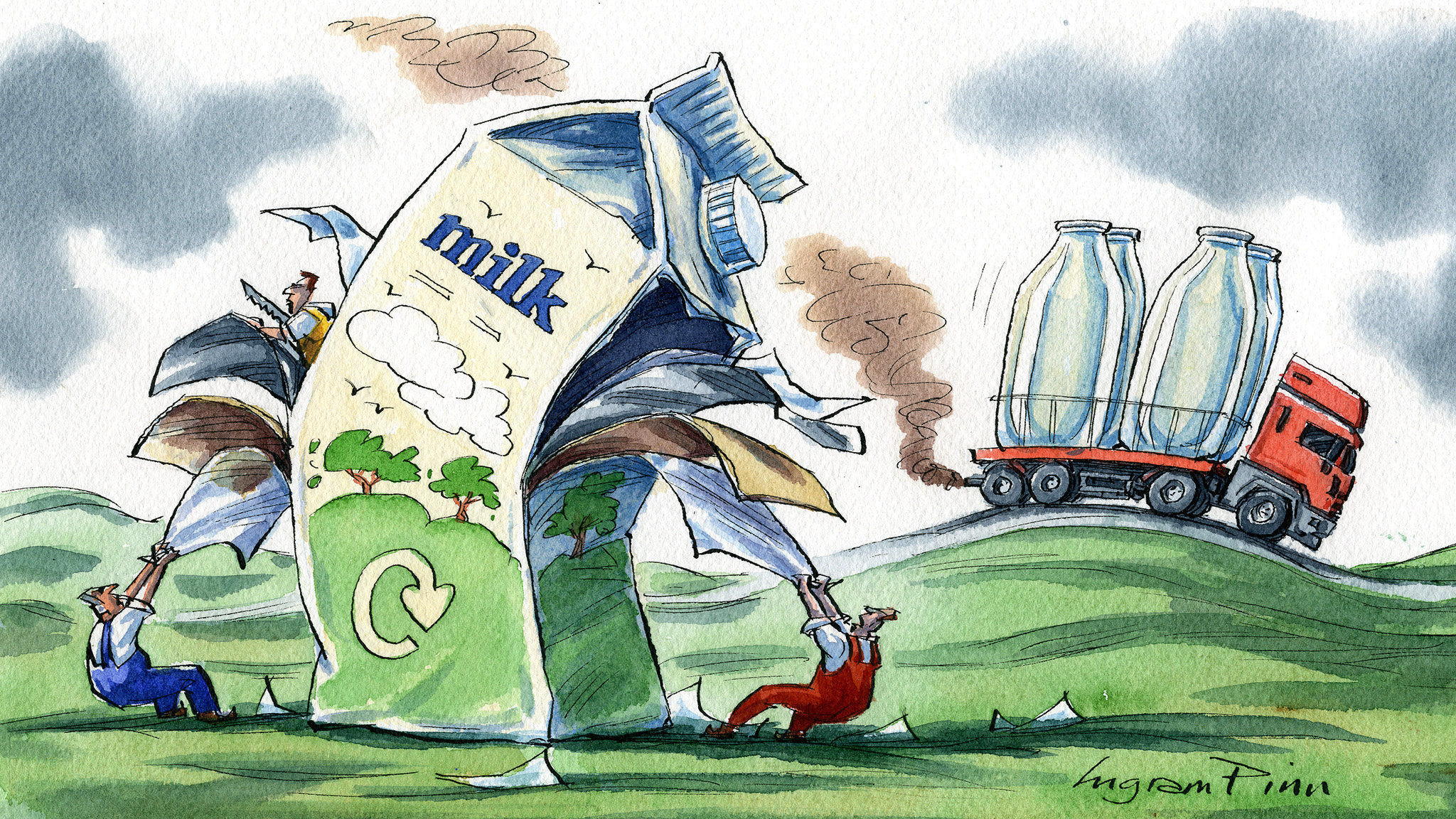 Invent a greener milk carton for the world