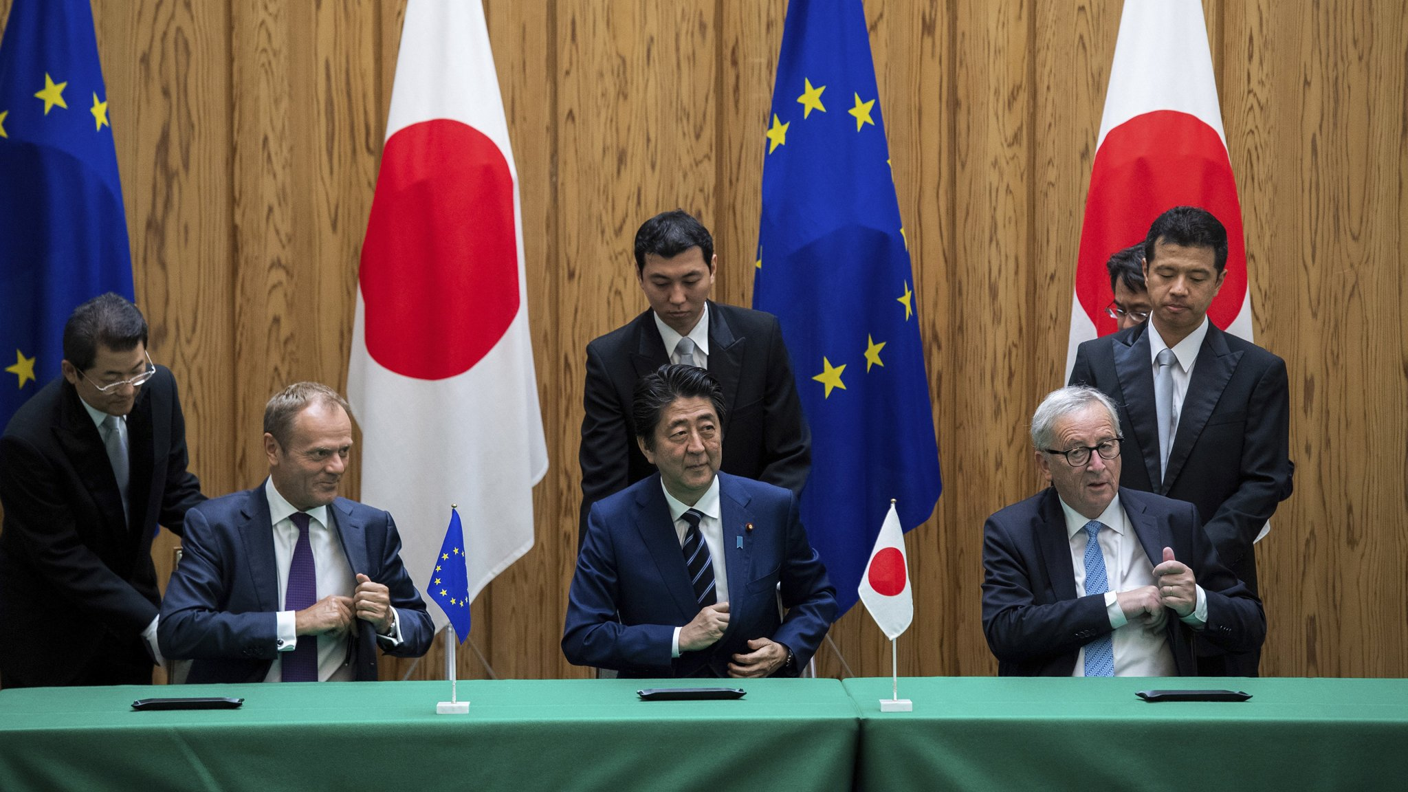 Japan And Eu Sign Trade Deal In Move Against Protectionism
