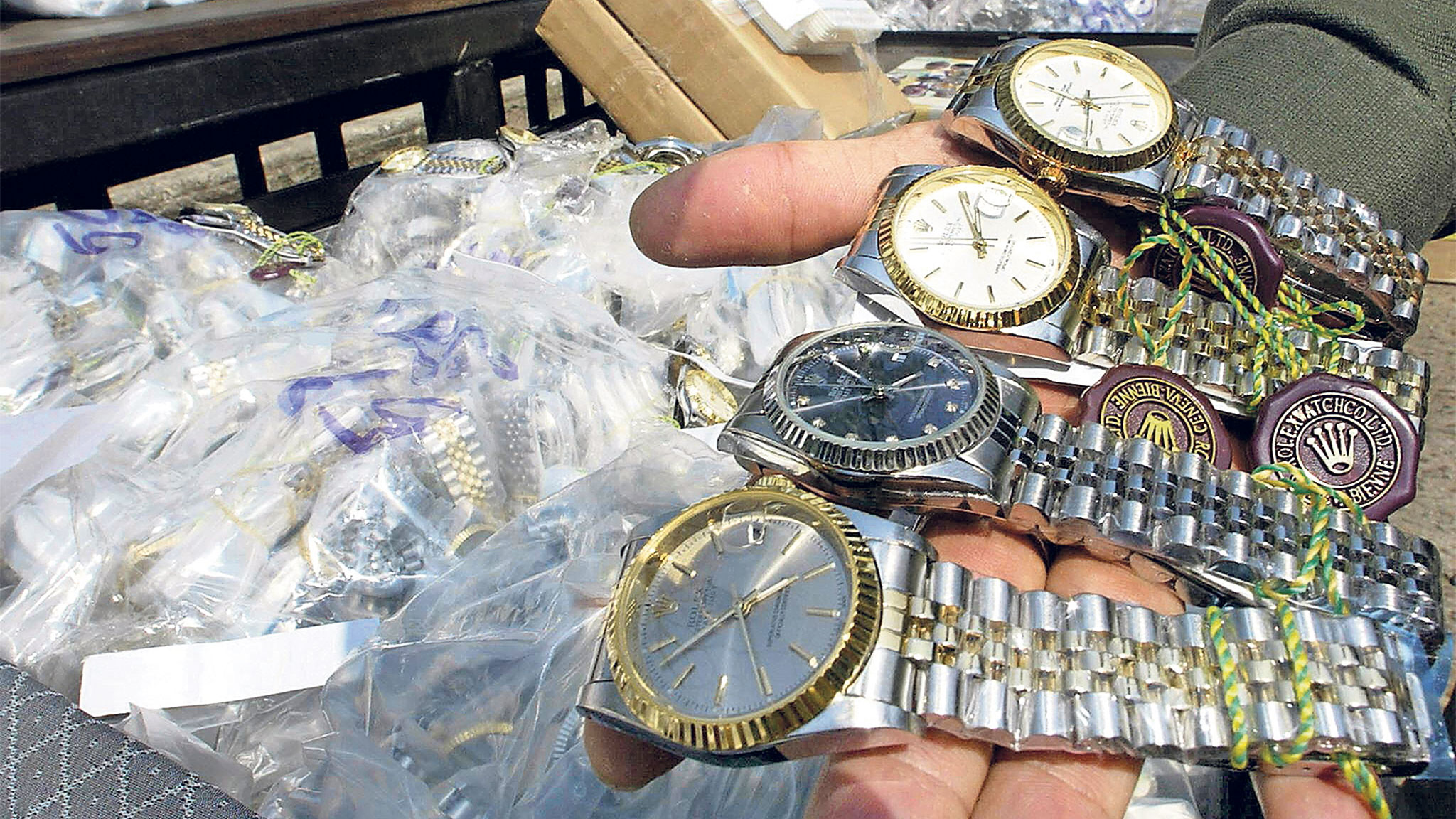 Fake watches destroyed