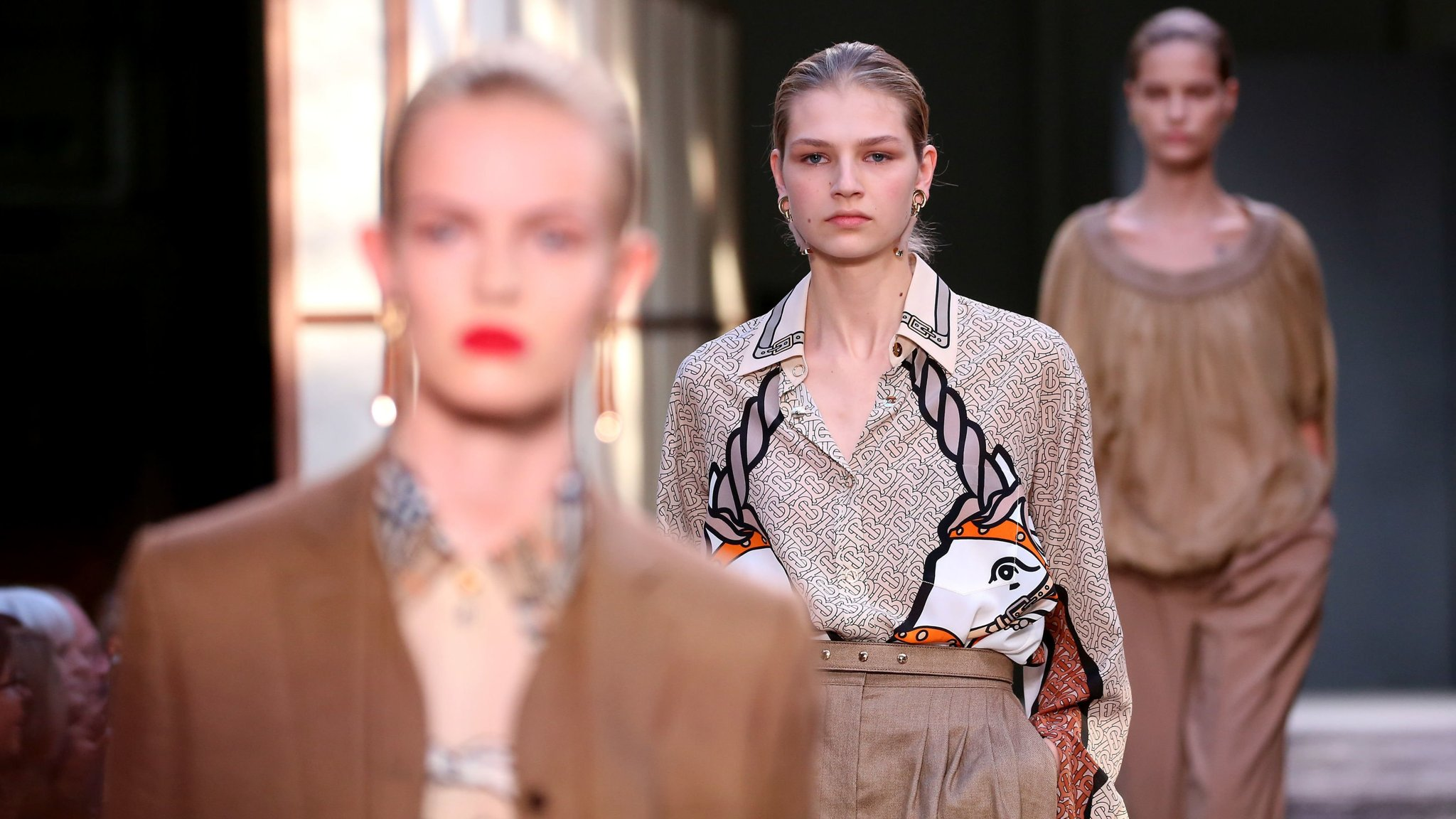 0d57a59a18dd Burberry hails Kingdom as profits meet forecasts. UK fashion house welcomes   exceptional  response to Riccardo Tisci s first collection