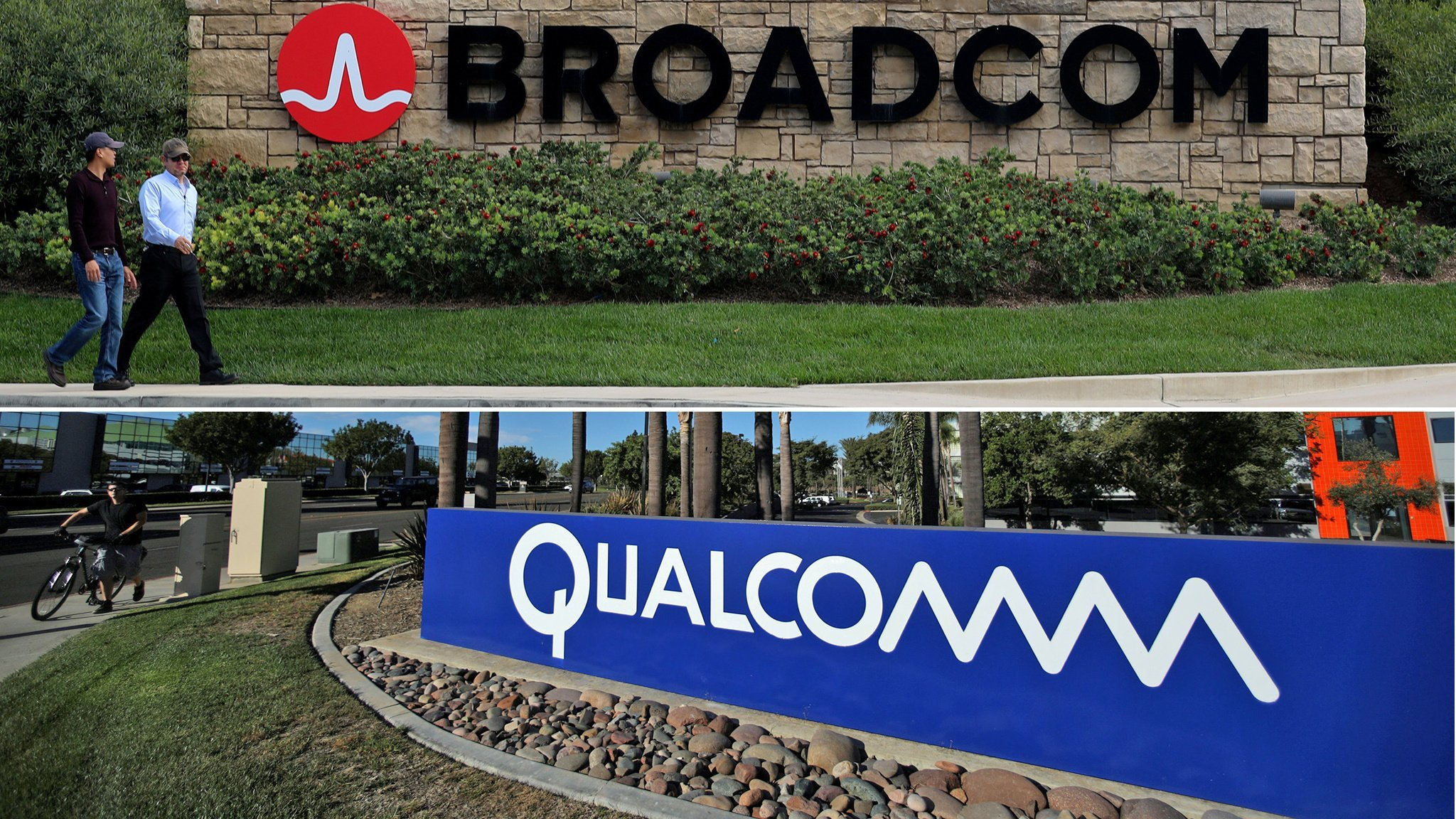 Broadcom offers Qualcomm $8bn break-up fee if deal fails