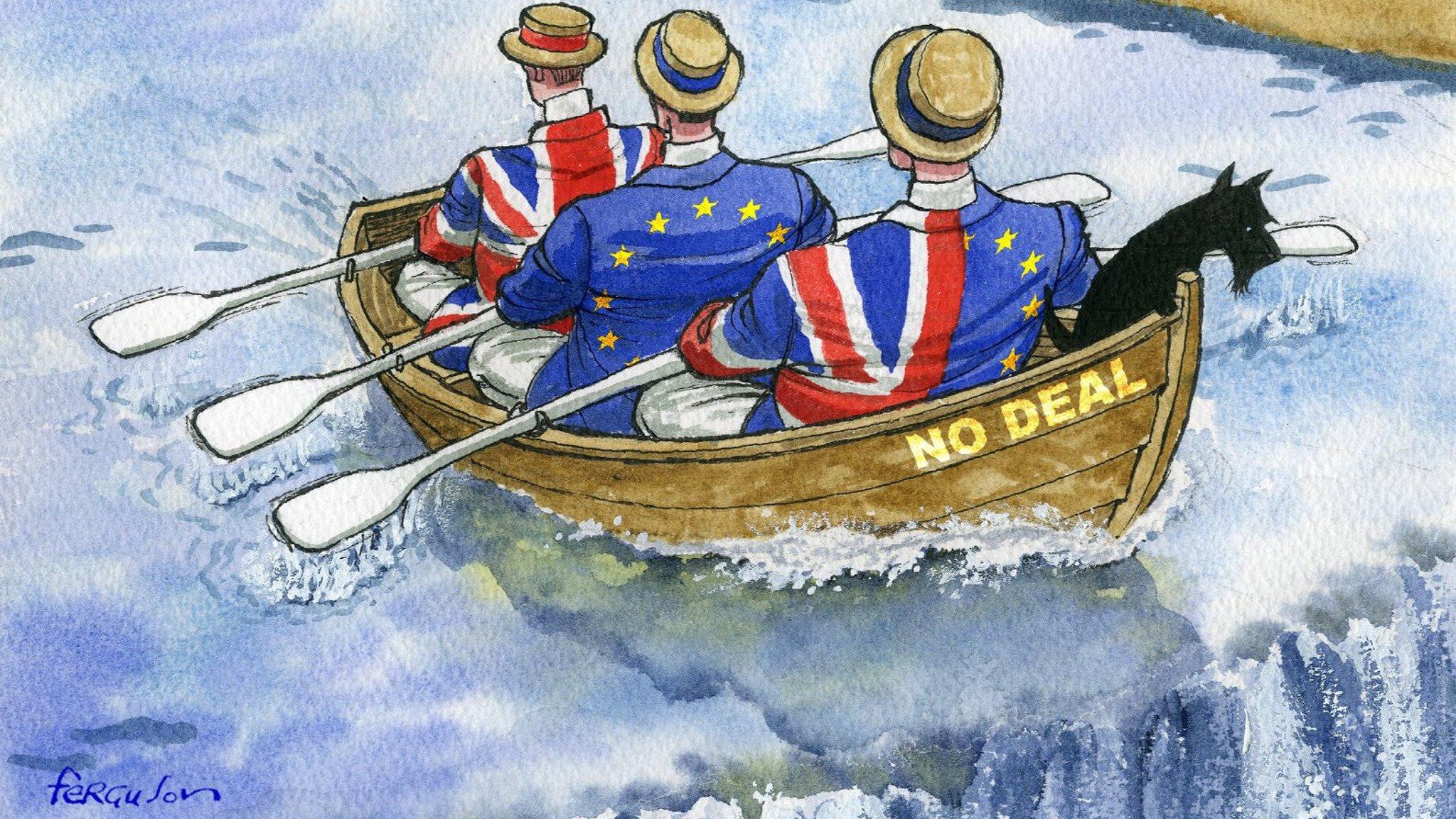 Risultati immagini per brexit no deal cartoons