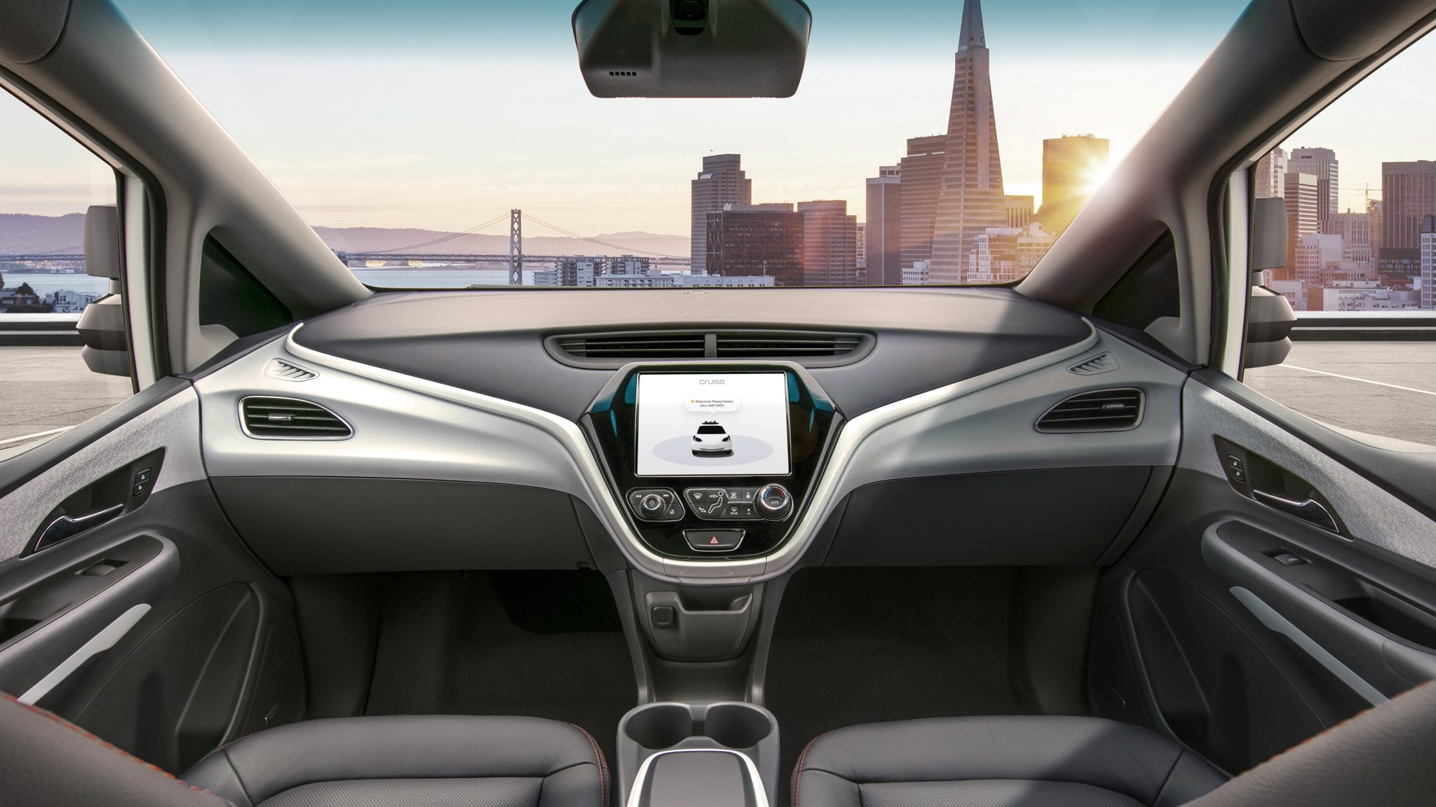 General Motors reveals images of car without driver controls
