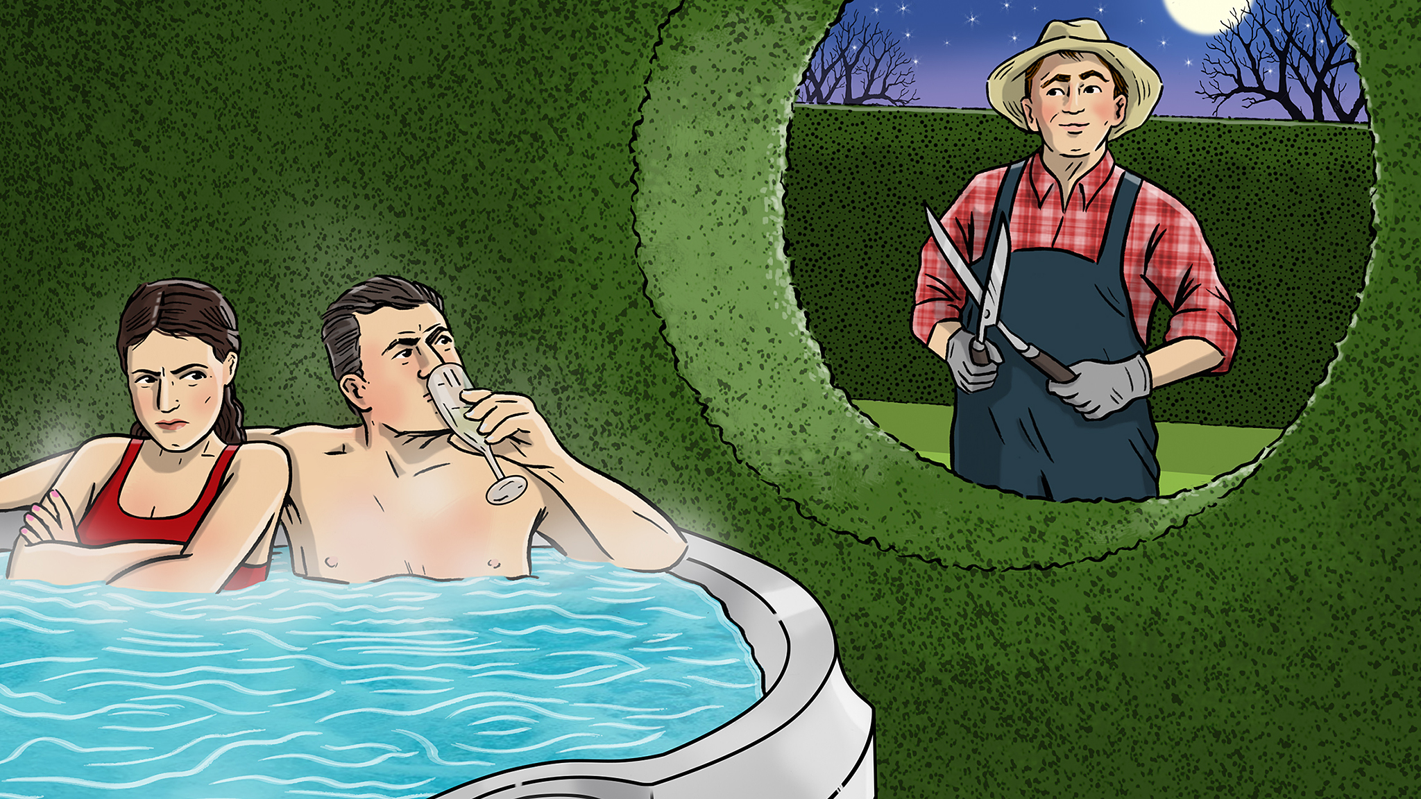 Nosy neighbour ruins our dips in the hot tub | Financial Times
