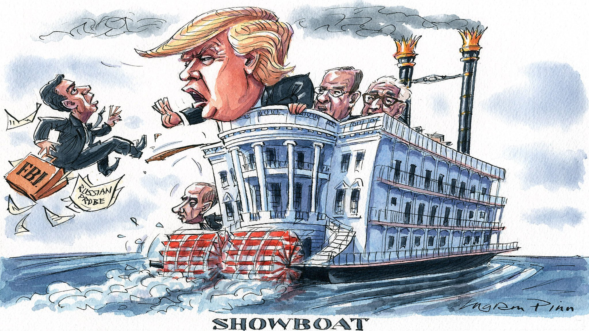 "Image result for FBI as ""showboat"" cartoons"