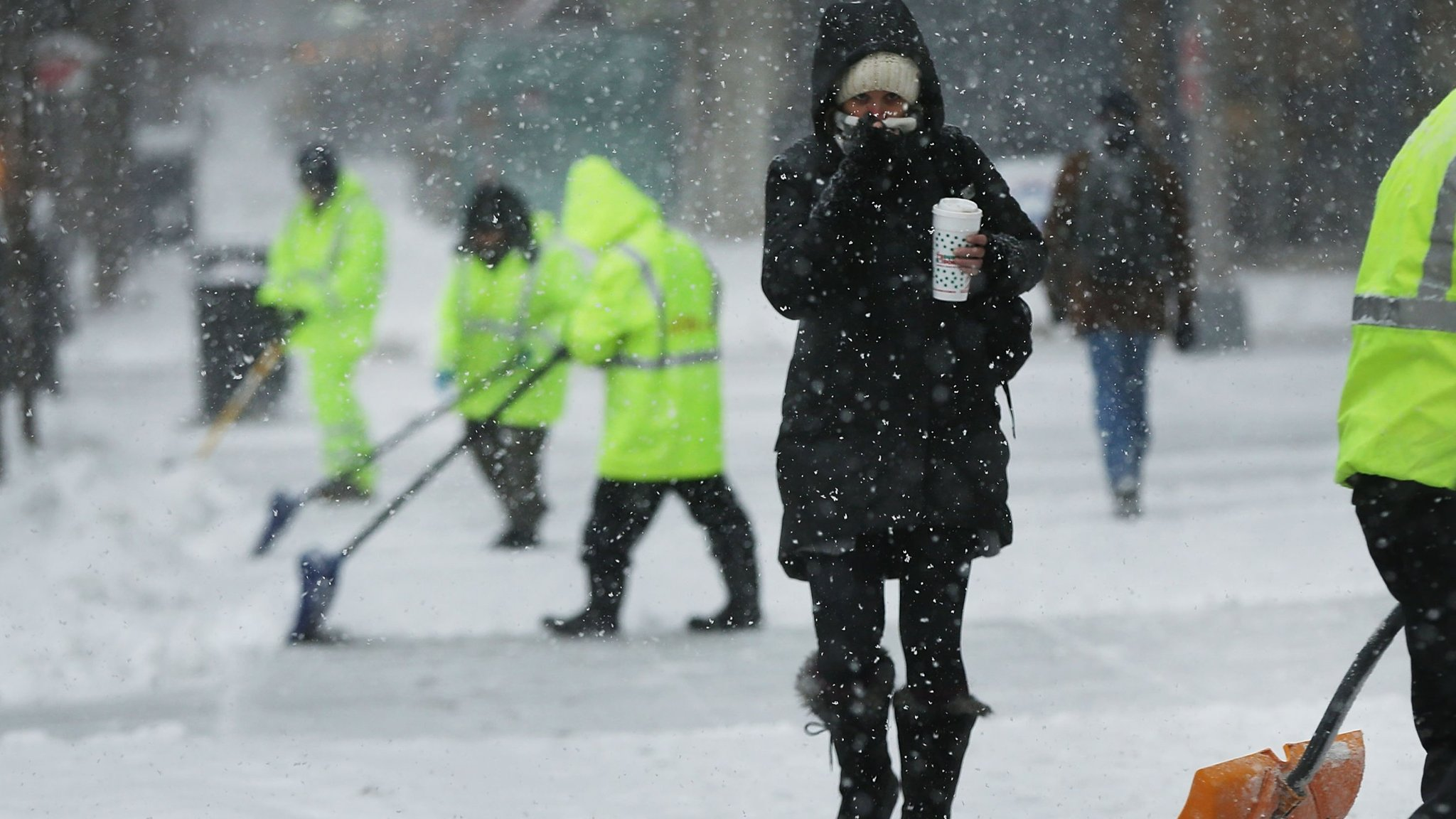 Fuel price spikes add to weather misery in US north-east