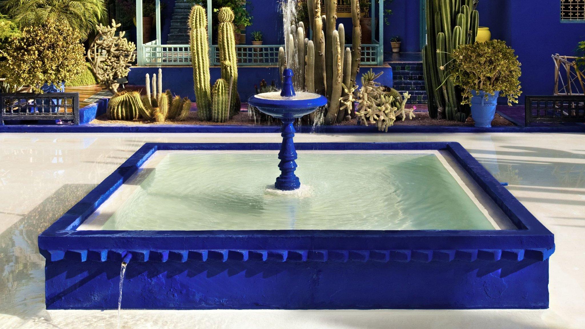 Garden Stylist Yves Saint Laurent S Jardin Majorelle In Marrakesh