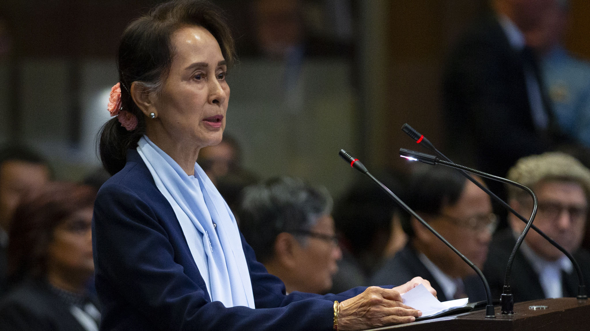 Aung San Suu Kyi defends Myanmar against genocide claims in UN court